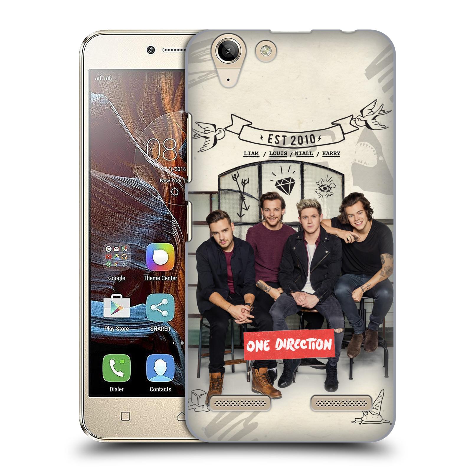 Plastové pouzdro na mobil Lenovo K5 / K5 Plus HEAD CASE One Direction - EST 2010 (Plastový kryt či obal One Direction Official na mobilní telefon Lenovo K5 / K5 Plus)