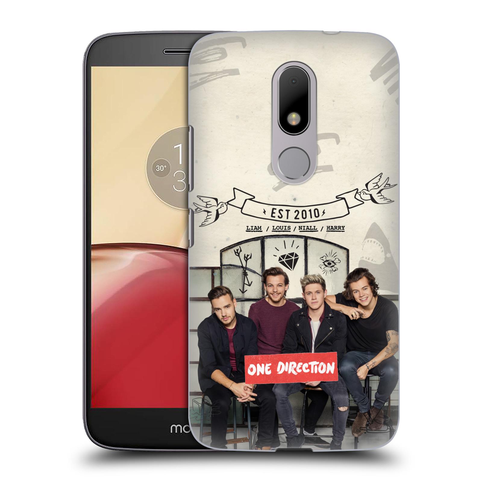 Plastové pouzdro na mobil Lenovo Moto M HEAD CASE One Direction - EST 2010 (Plastový kryt či obal One Direction Official na mobilní telefon Lenovo (Motorola) Moto M / Moto M Dual SIM)