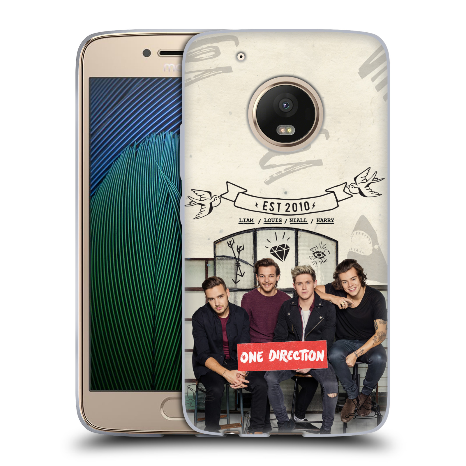 Silikonové pouzdro na mobil Lenovo Moto G5 Plus - Head Case One Direction - EST 2010 (Silikonový kryt či obal One Direction Official na mobilní telefon Lenovo Moto G5 Plus)