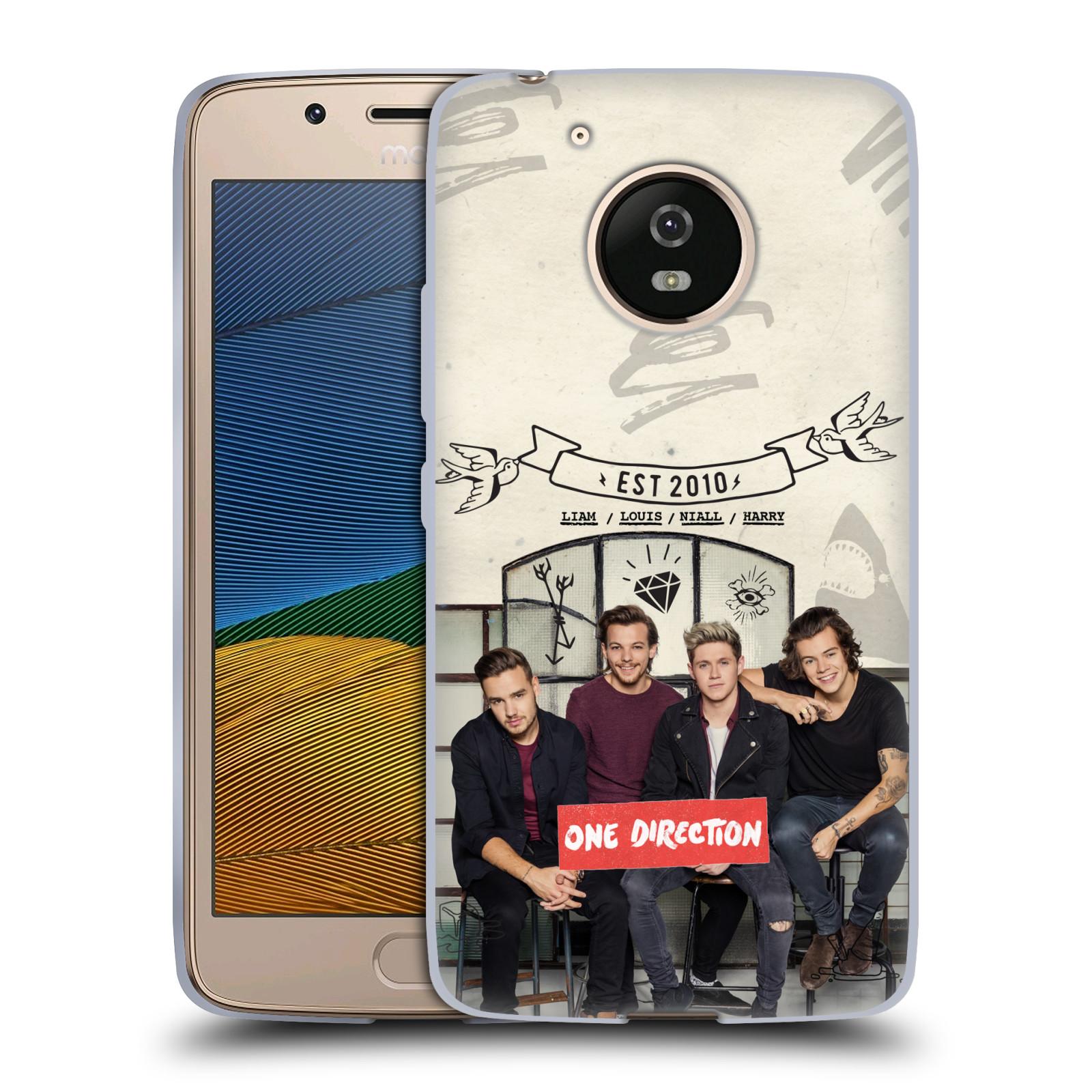Silikonové pouzdro na mobil Lenovo Moto G5 - Head Case One Direction - EST 2010 (Silikonový kryt či obal One Direction Official na mobilní telefon Lenovo Moto G5)