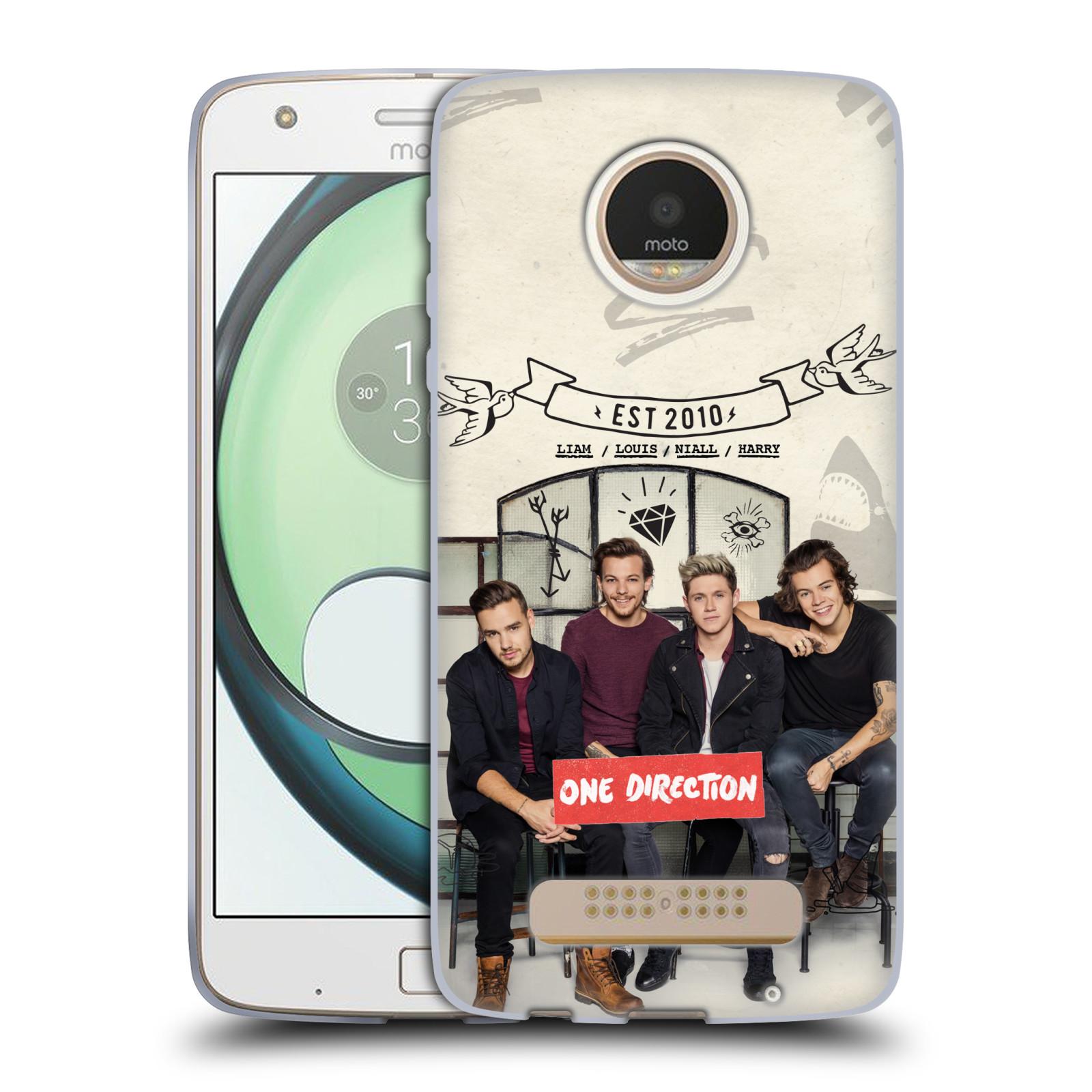Silikonové pouzdro na mobil Lenovo Moto Z Play HEAD CASE One Direction - EST 2010 (Silikonový kryt či obal One Direction Official na mobilní telefon Lenovo Moto Z Play)