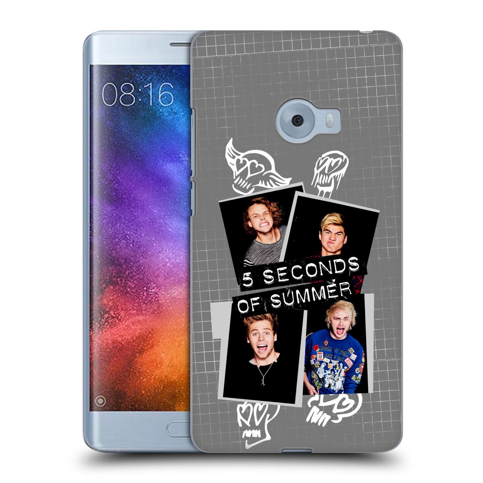 Plastové pouzdro na mobil Xiaomi Mi Note 2 - Head Case 5 Seconds of Summer - Band Grey (Plastový kryt či obal na mobilní telefon licencovaným motivem 5 Seconds of Summer pro Xiaomi Mi Note 2)