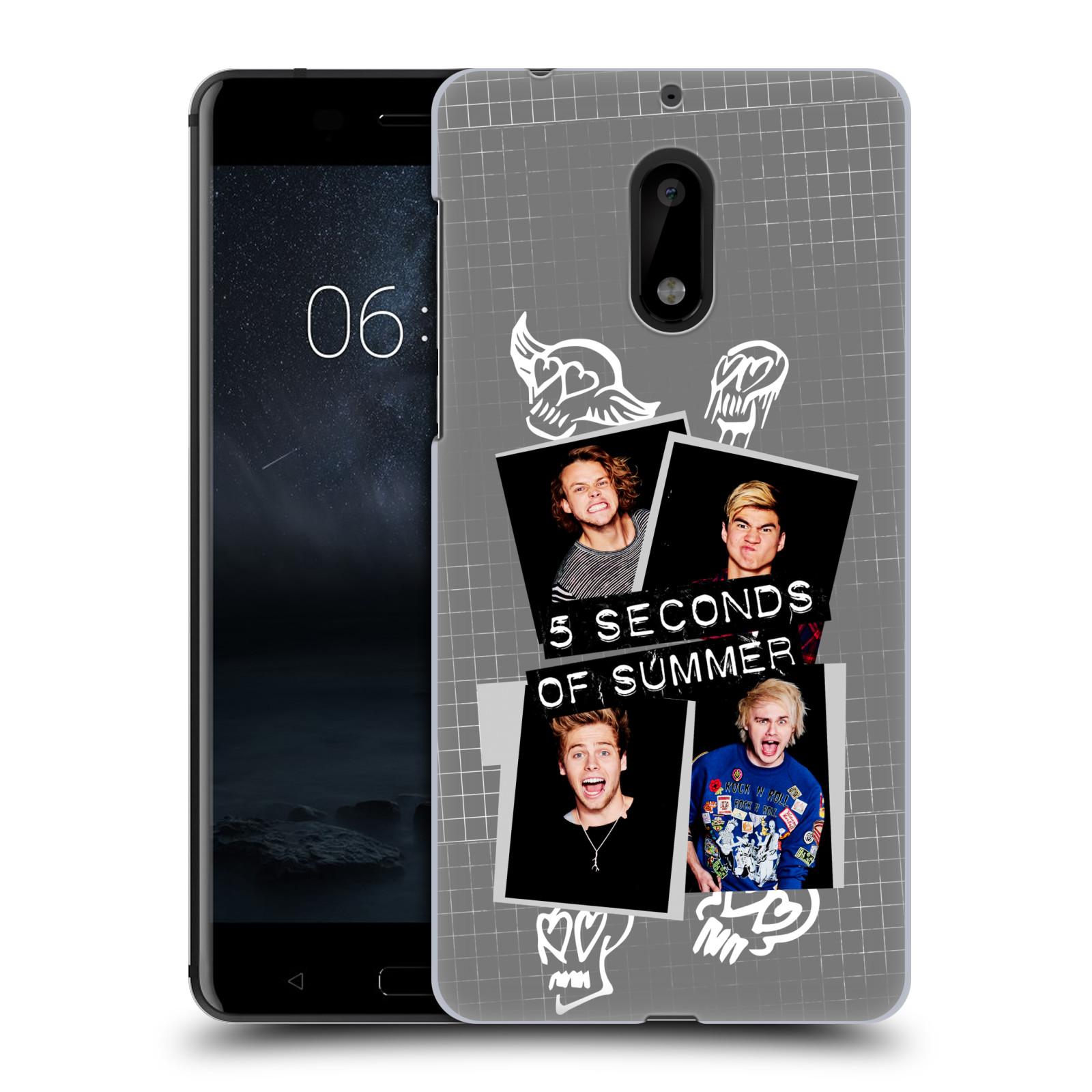 Plastové pouzdro na mobil Nokia 6 - Head Case 5 Seconds of Summer - Band Grey (Plastový kryt či obal na mobilní telefon licencovaným motivem 5 Seconds of Summer pro Nokia 6 (Dual SIM))