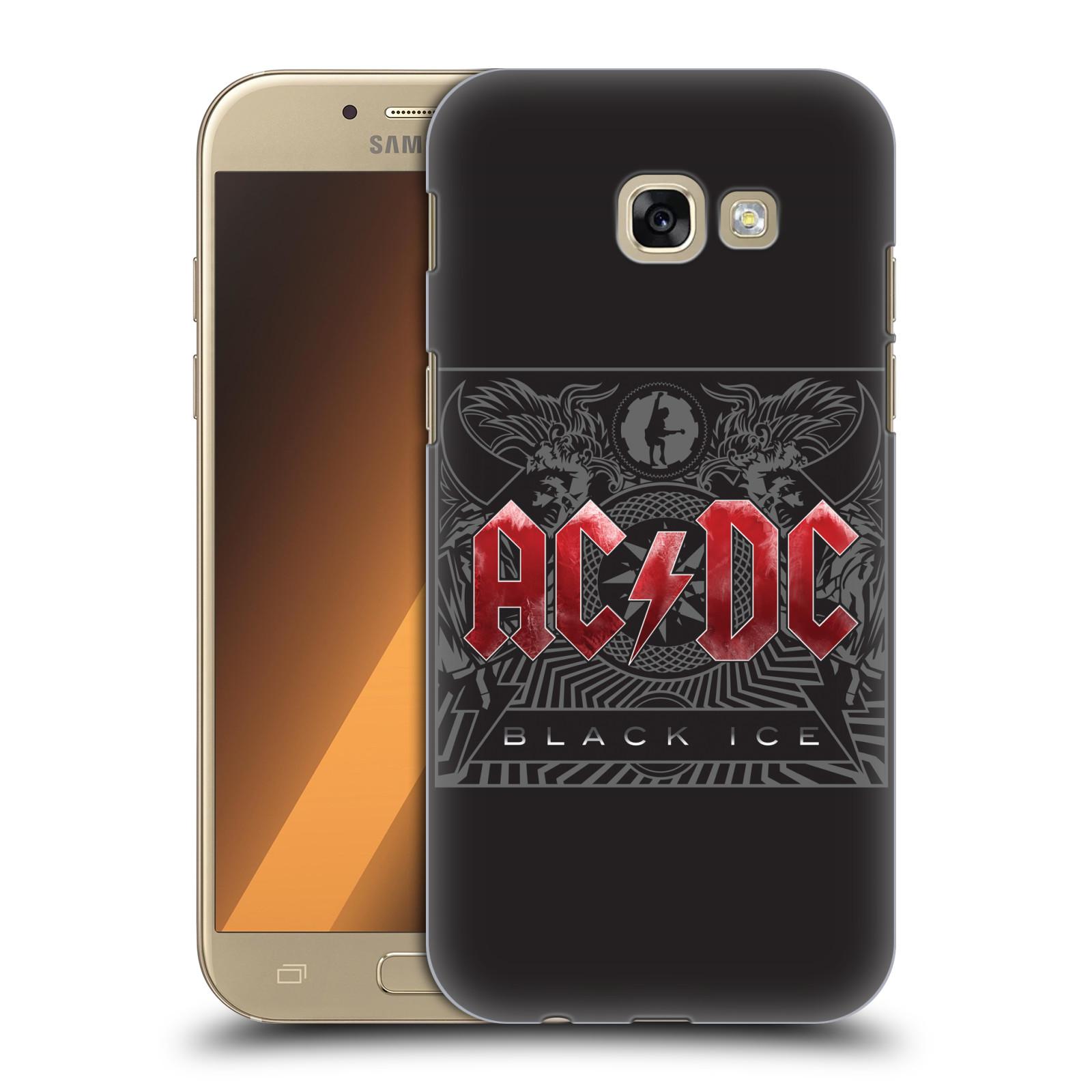 Plastové pouzdro na mobil Samsung Galaxy A5 (2017) HEAD CASE AC/DC Black Ice (Plastový kryt či obal na mobilní telefon s oficiálním motivem australské skupiny AC/DC pro Samsung Galaxy A5 2017 SM-A520)