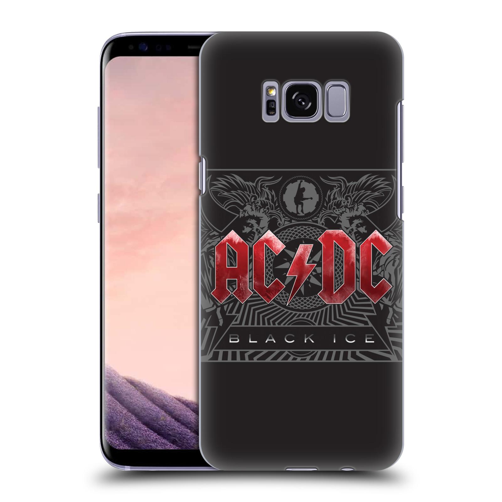 Plastové pouzdro na mobil Samsung Galaxy S8 Head Case AC/DC Black Ice (Plastový kryt či obal na mobilní telefon s oficiálním motivem australské skupiny AC/DC pro Samsung Galaxy S8 SM-G9500)
