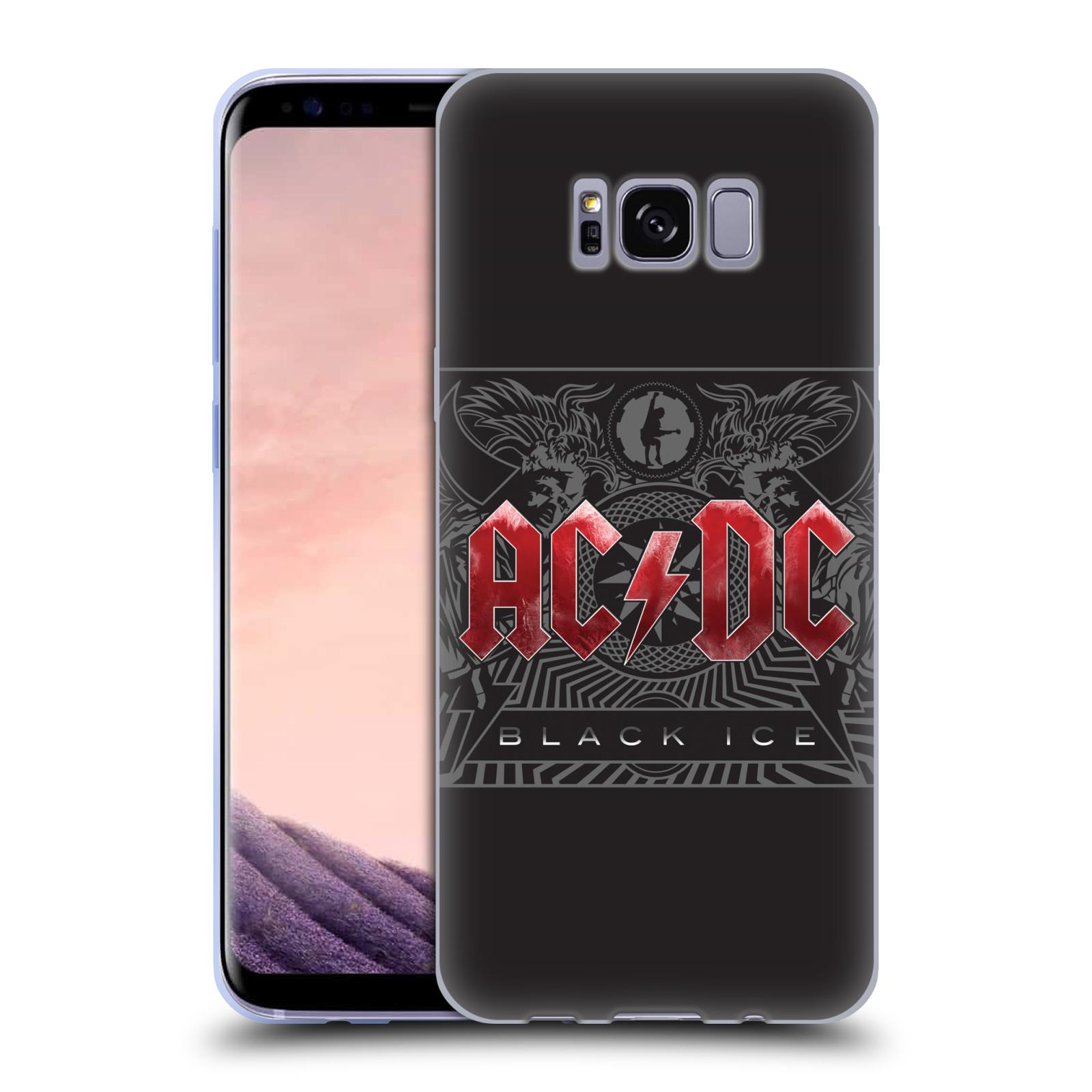 Silikonové pouzdro na mobil Samsung Galaxy S8 Head Case AC/DC Black Ice (Silikonový kryt či obal na mobilní telefon s oficiálním motivem australské skupiny AC/DC pro Samsung Galaxy S8 SM-G9500)