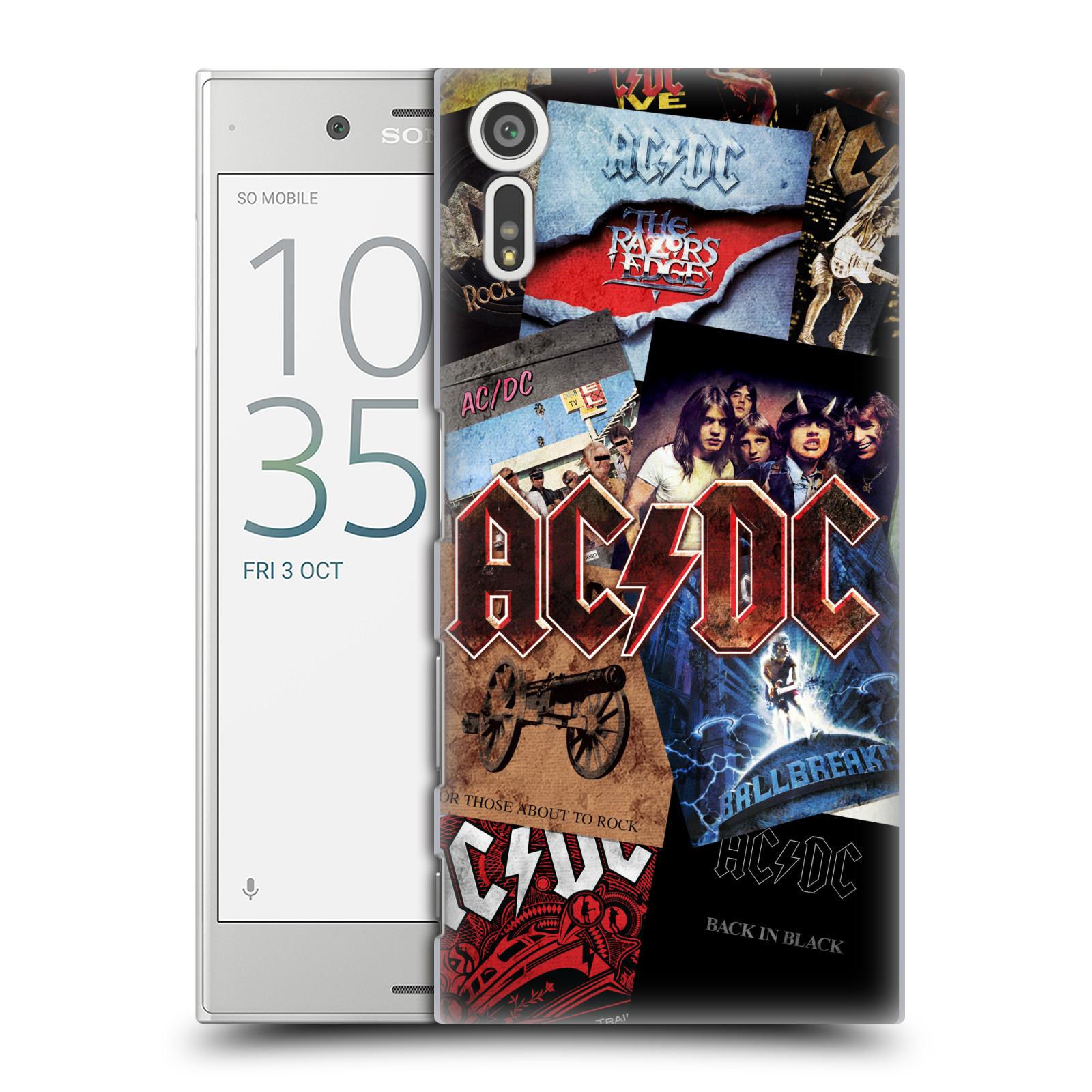 Plastové pouzdro na mobil Sony Xperia XZ - Head Case AC/DC Koláž desek