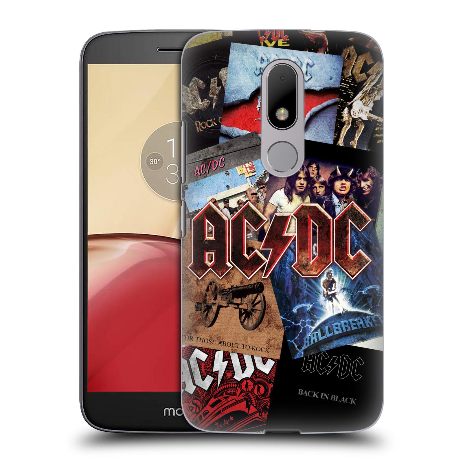 Plastové pouzdro na mobil Lenovo Moto M HEAD CASE AC/DC Koláž desek (Plastový kryt či obal na mobilní telefon s oficiálním motivem australské skupiny AC/DC pro Lenovo (Motorola) Moto M / Moto M Dual SIM)