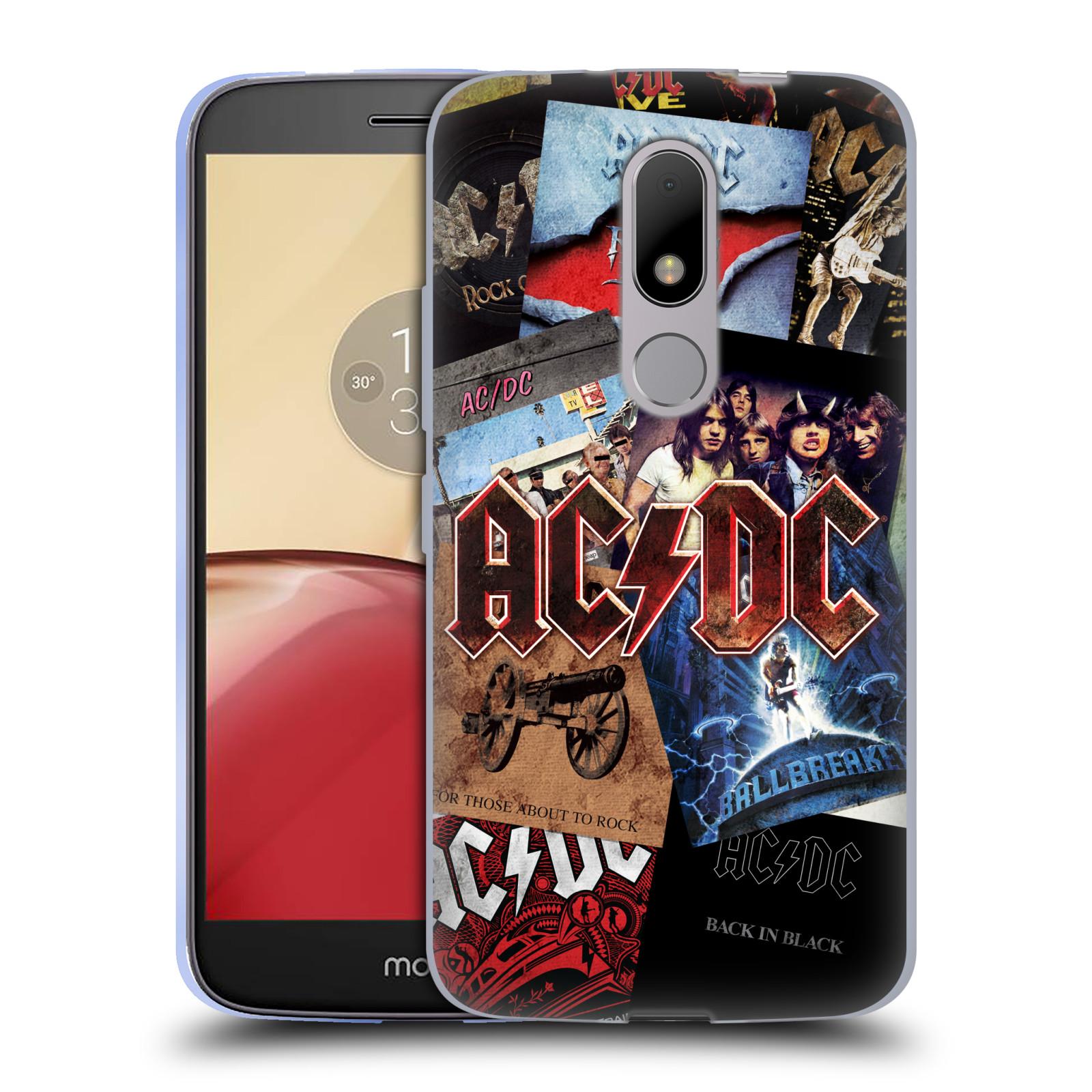 Silikonové pouzdro na mobil Lenovo Moto M - Head Case AC/DC Koláž desek (Silikonový kryt či obal na mobilní telefon s oficiálním motivem australské skupiny AC/DC pro Lenovo Moto M (Dual Sim))