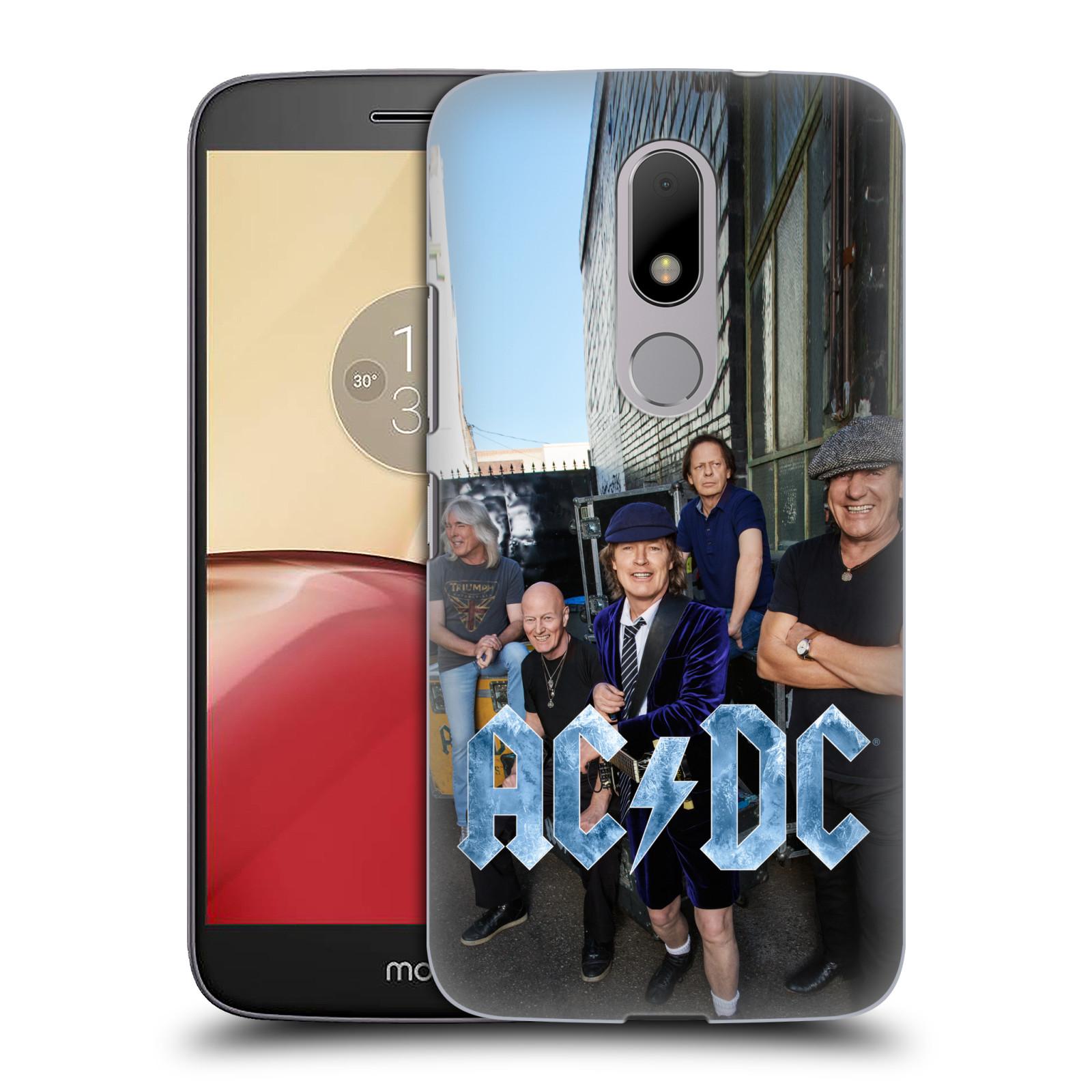 Plastové pouzdro na mobil Lenovo Moto M HEAD CASE AC/DC Skupina barevně (Plastový kryt či obal na mobilní telefon s oficiálním motivem australské skupiny AC/DC pro Lenovo (Motorola) Moto M / Moto M Dual SIM)