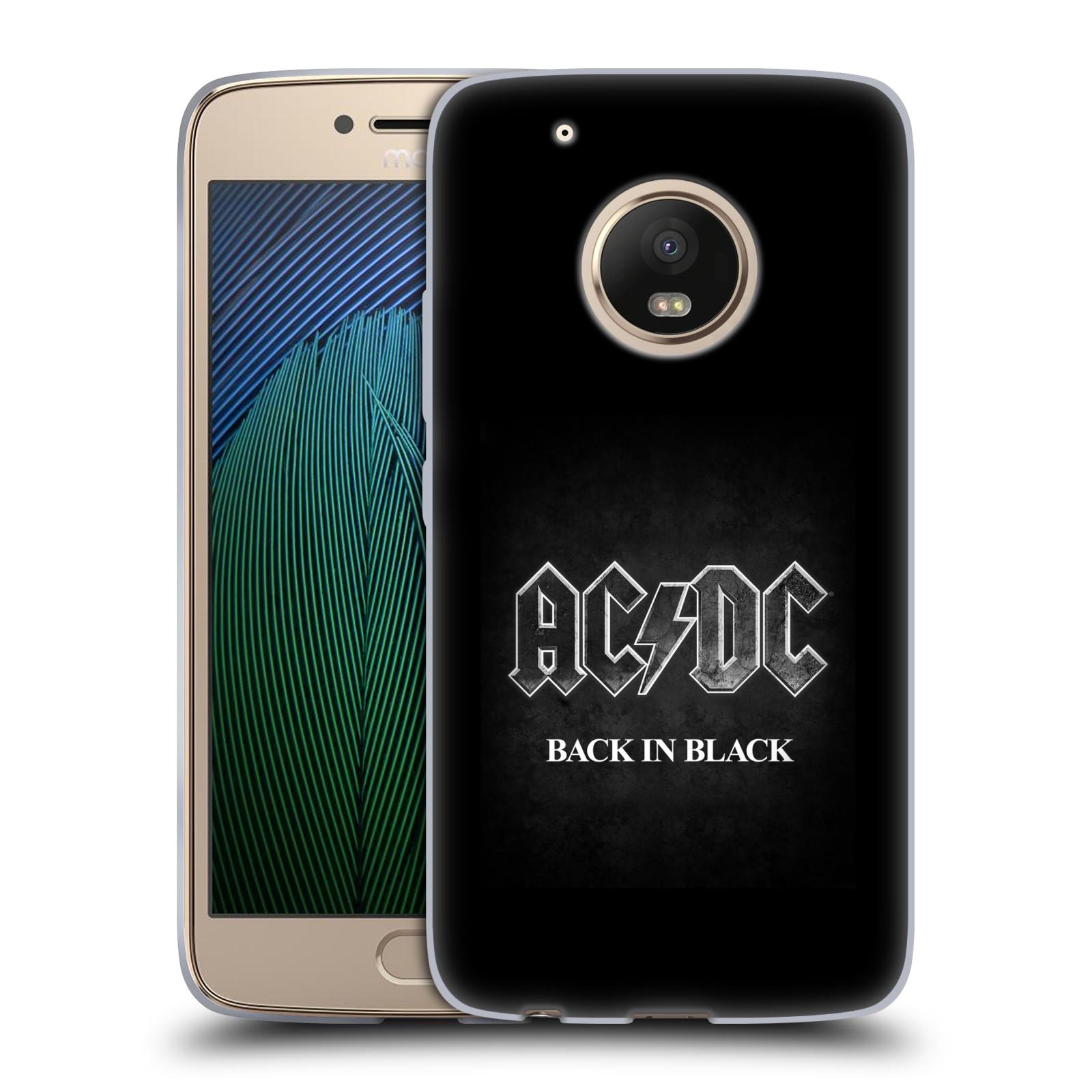 Silikonové pouzdro na mobil Lenovo Moto G5 Plus - Head Case AC/DC BACK IN BLACK (Silikonový kryt či obal na mobilní telefon s oficiálním motivem australské skupiny AC/DC pro Lenovo Moto G5 Plus)