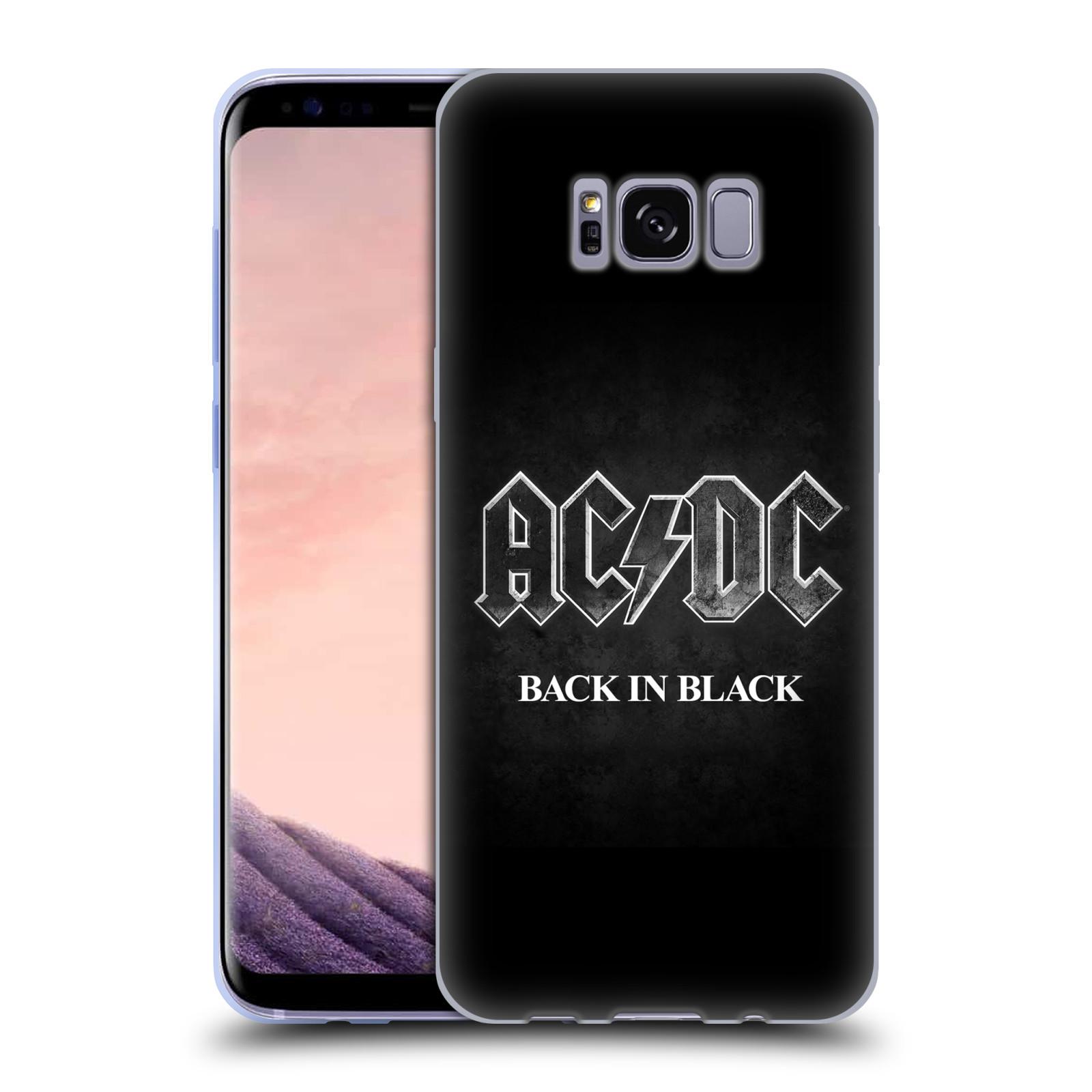 Silikonové pouzdro na mobil Samsung Galaxy S8 Head Case AC/DC BACK IN BLACK (Silikonový kryt či obal na mobilní telefon s oficiálním motivem australské skupiny AC/DC pro Samsung Galaxy S8 SM-G9500)