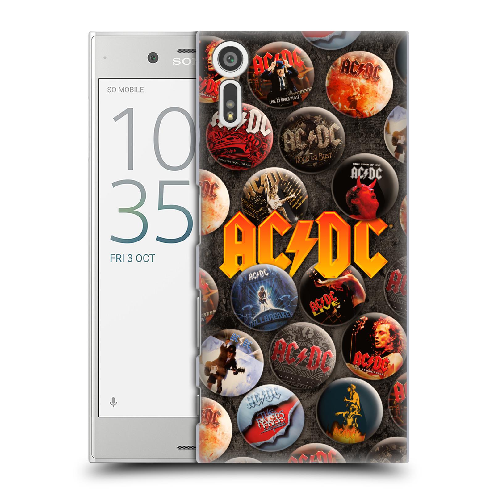 Plastové pouzdro na mobil Sony Xperia XZ - Head Case AC/DC Placky
