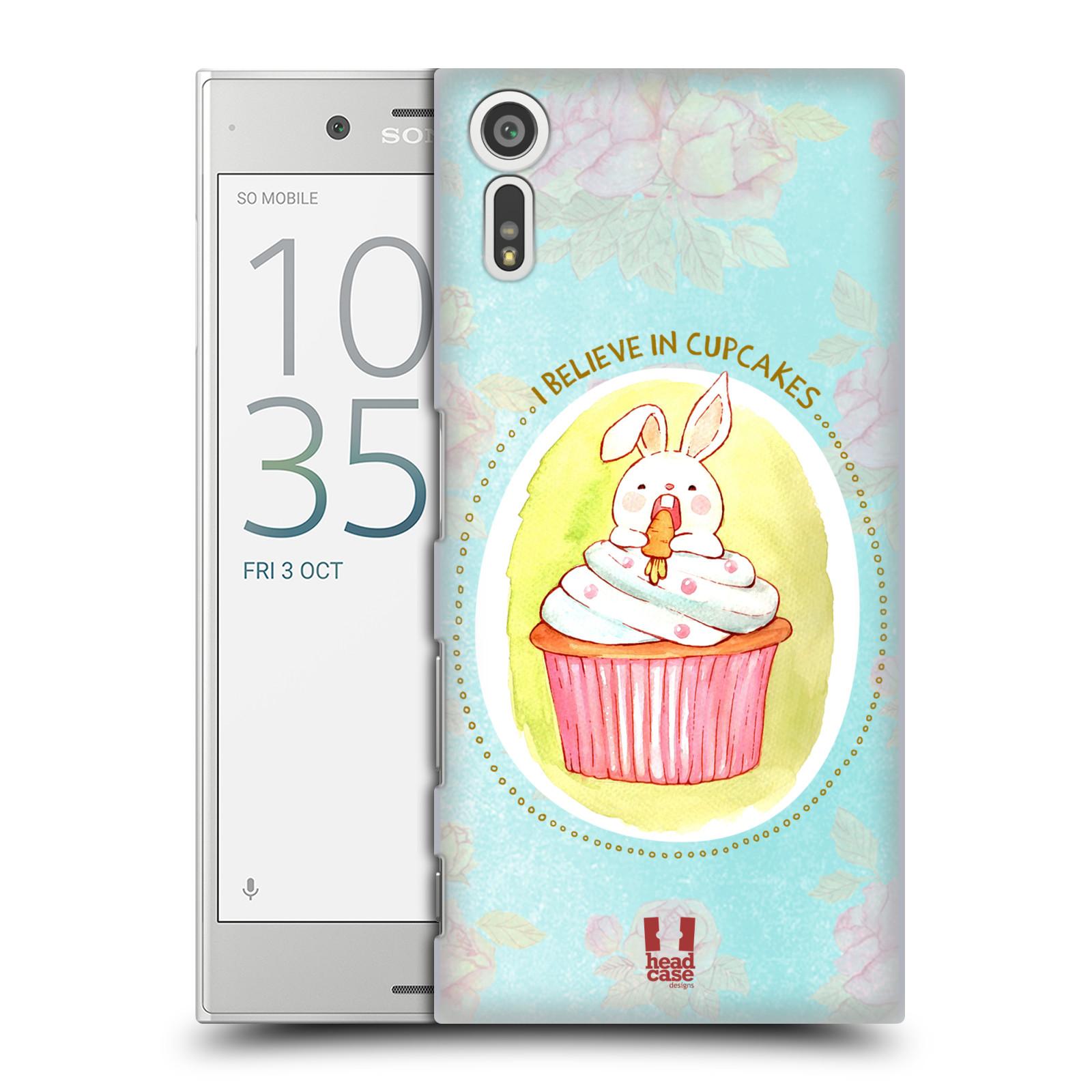 Plastové pouzdro na mobil Sony Xperia XZ - Head Case KRÁLÍČEK CUPCAKE