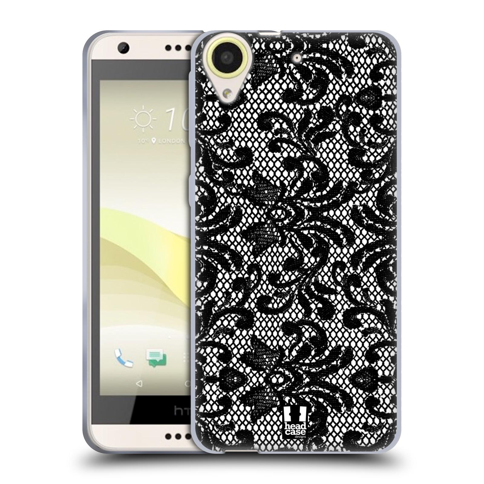 Silikonové pouzdro na mobil HTC Desire 650 HEAD CASE KRAJKA (Silikonový kryt či obal na mobilní telefon HTC Desire 650)