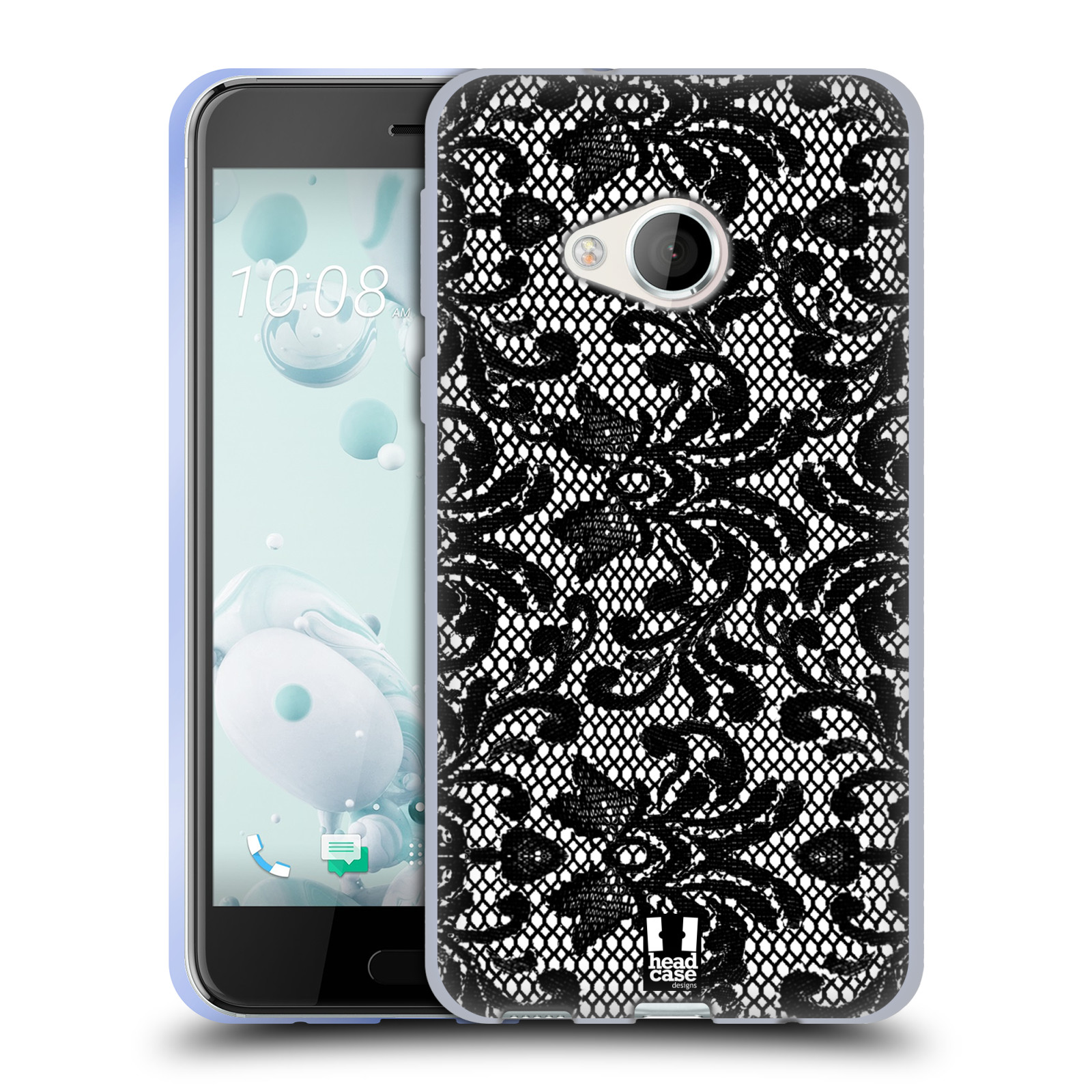 Silikonové pouzdro na mobil HTC U Play - Head Case KRAJKA (Silikonový kryt či obal na mobilní telefon HTC U Play)