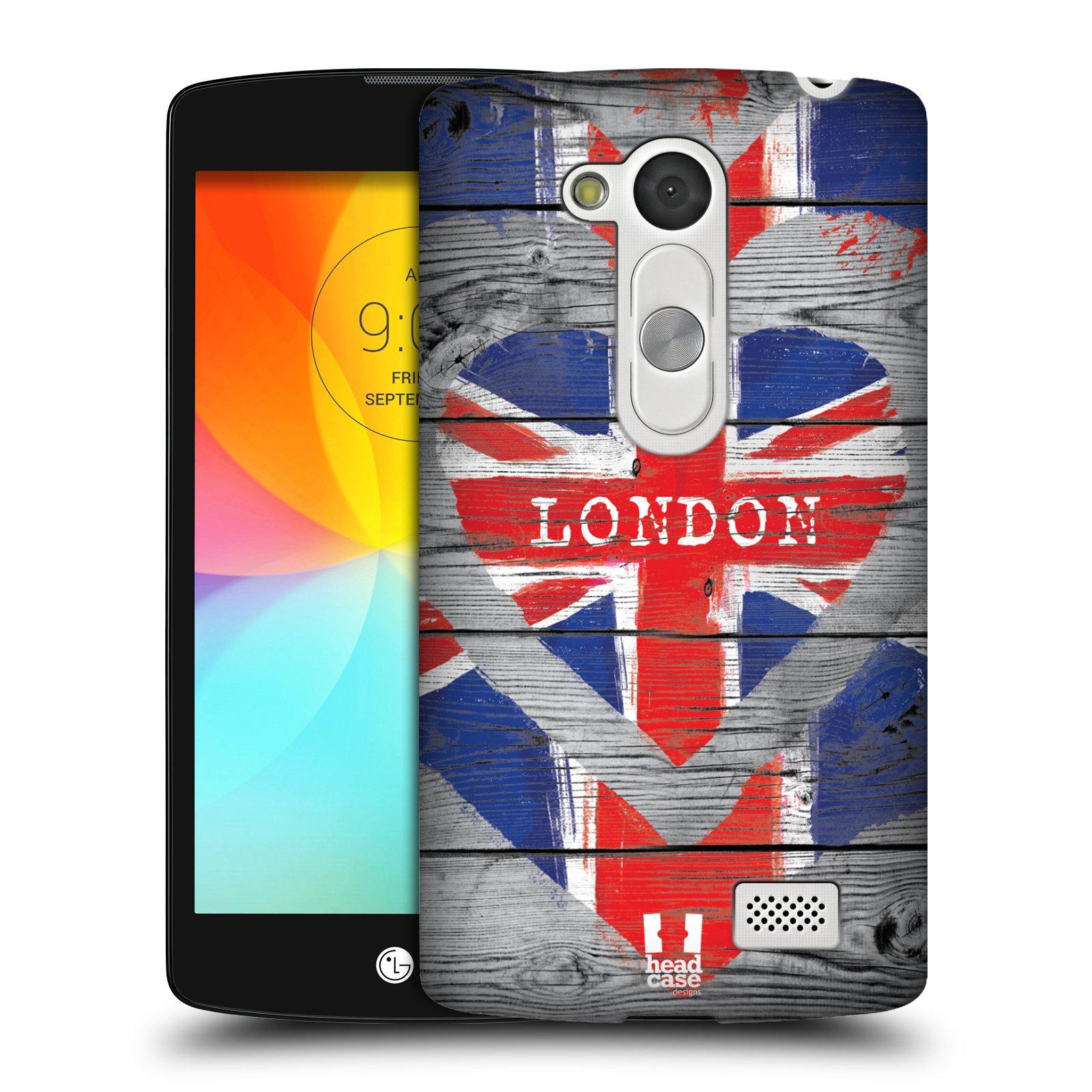 Plastové pouzdro na mobil LG L Fino HEAD CASE LOVE LONDON (Kryt či obal na mobilní telefon LG D290n L Fino a LG D295 L Fino Dual)