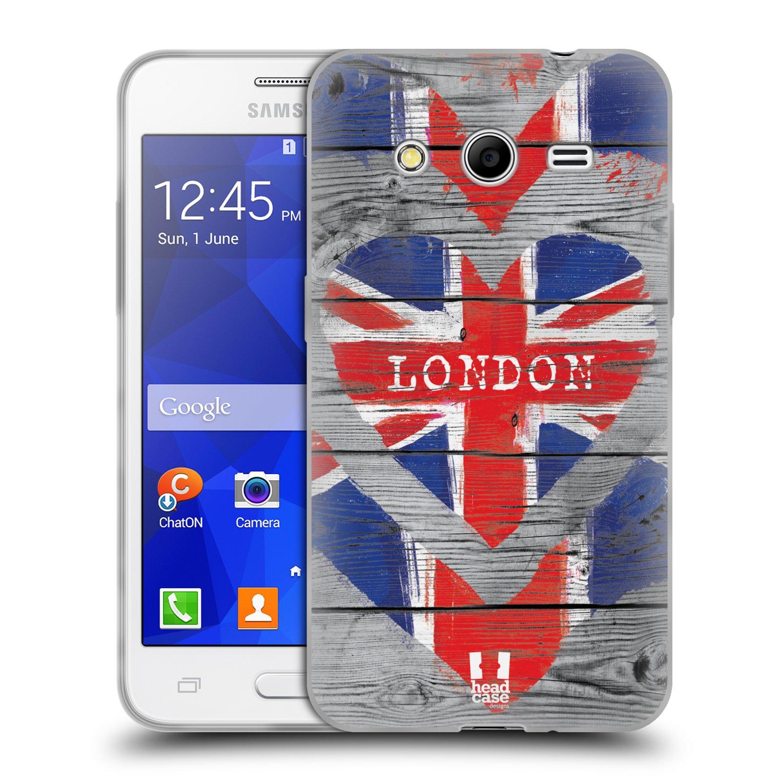 Silikonové pouzdro na mobil Samsung Galaxy Core 2 HEAD CASE LOVE LONDON (Silikonový kryt či obal na mobilní telefon Samsung Galaxy Core 2 SM-G355)