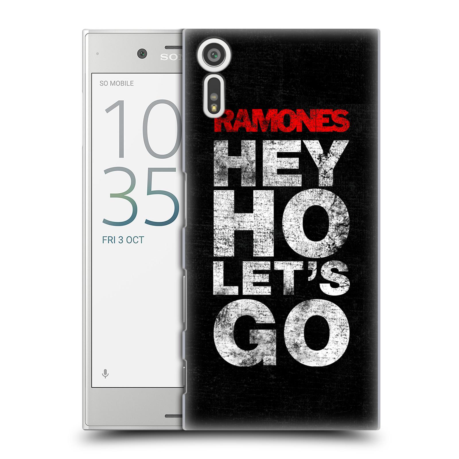 Plastové pouzdro na mobil Sony Xperia XZ - Head Case The Ramones - HEY HO LET´S GO (Plastový kryt či obal na mobilní telefon s oficiálním licencovaným motivem The Ramones pro Sony Xperia XZ F8331 / Sony Xperia XZ Dual F8332)