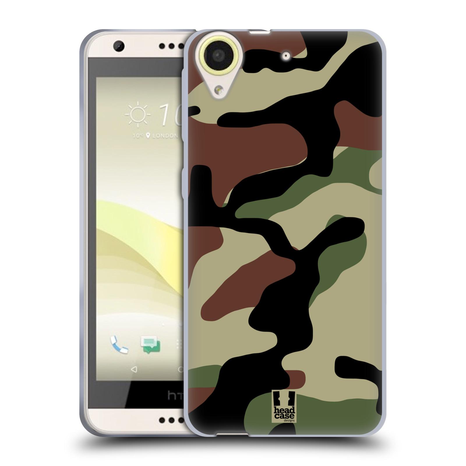 Silikonové pouzdro na mobil HTC Desire 650 HEAD CASE Maskáče (Silikonový kryt či obal na mobilní telefon HTC Desire 650)
