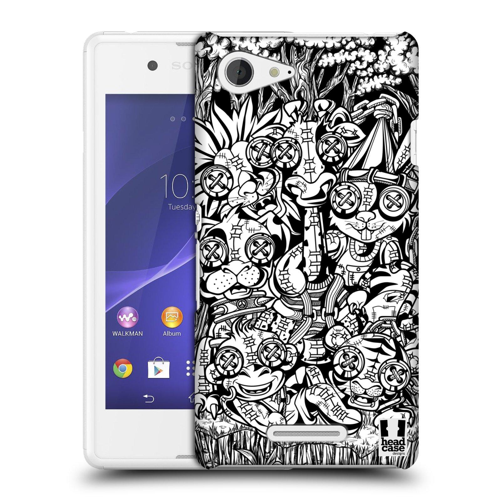 Plastové pouzdro na mobil Sony Xperia E3 D2203 HEAD CASE VOODOO ZVÍŘÁTKA (Kryt či obal na mobilní telefon Sony Xperia E3 a E3 Dual )