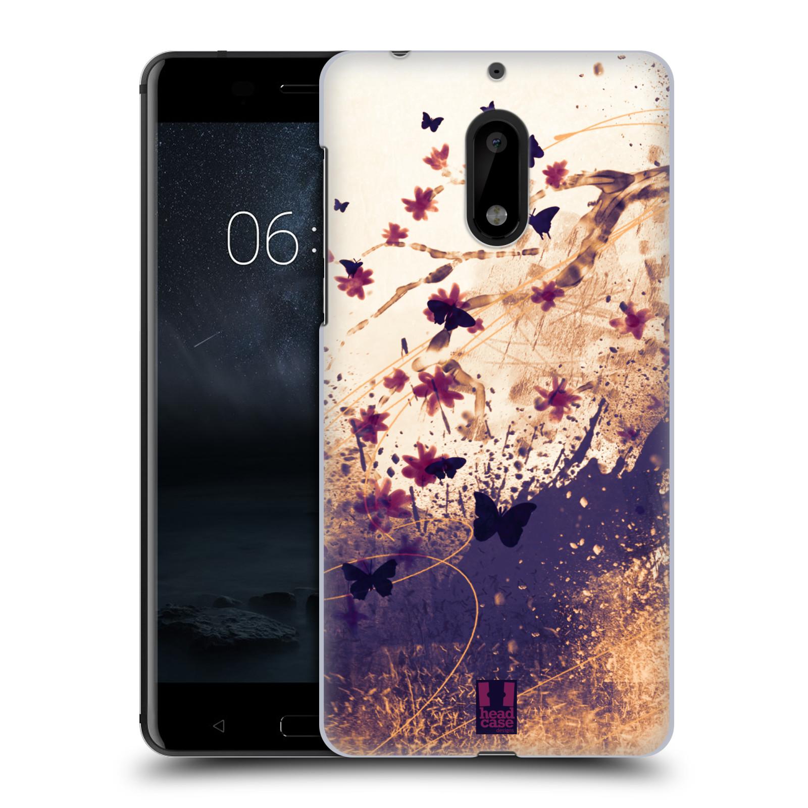 Plastové pouzdro na mobil Nokia 6 - Head Case MOTÝLCI (Plastový kryt či obal na mobilní telefon Nokia 6 (Dual SIM))