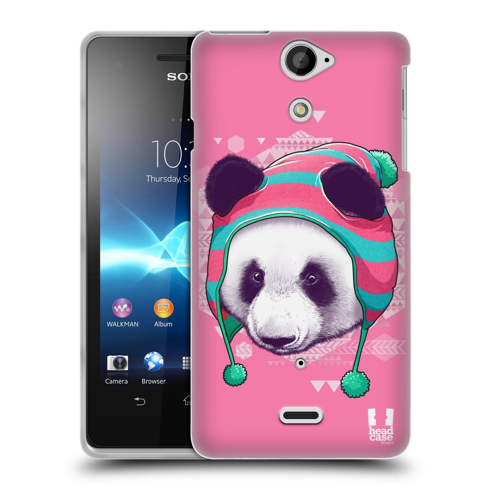 Silikonové pouzdro na mobil Sony Xperia V LT25i HEAD CASE HIPSTR PANDA