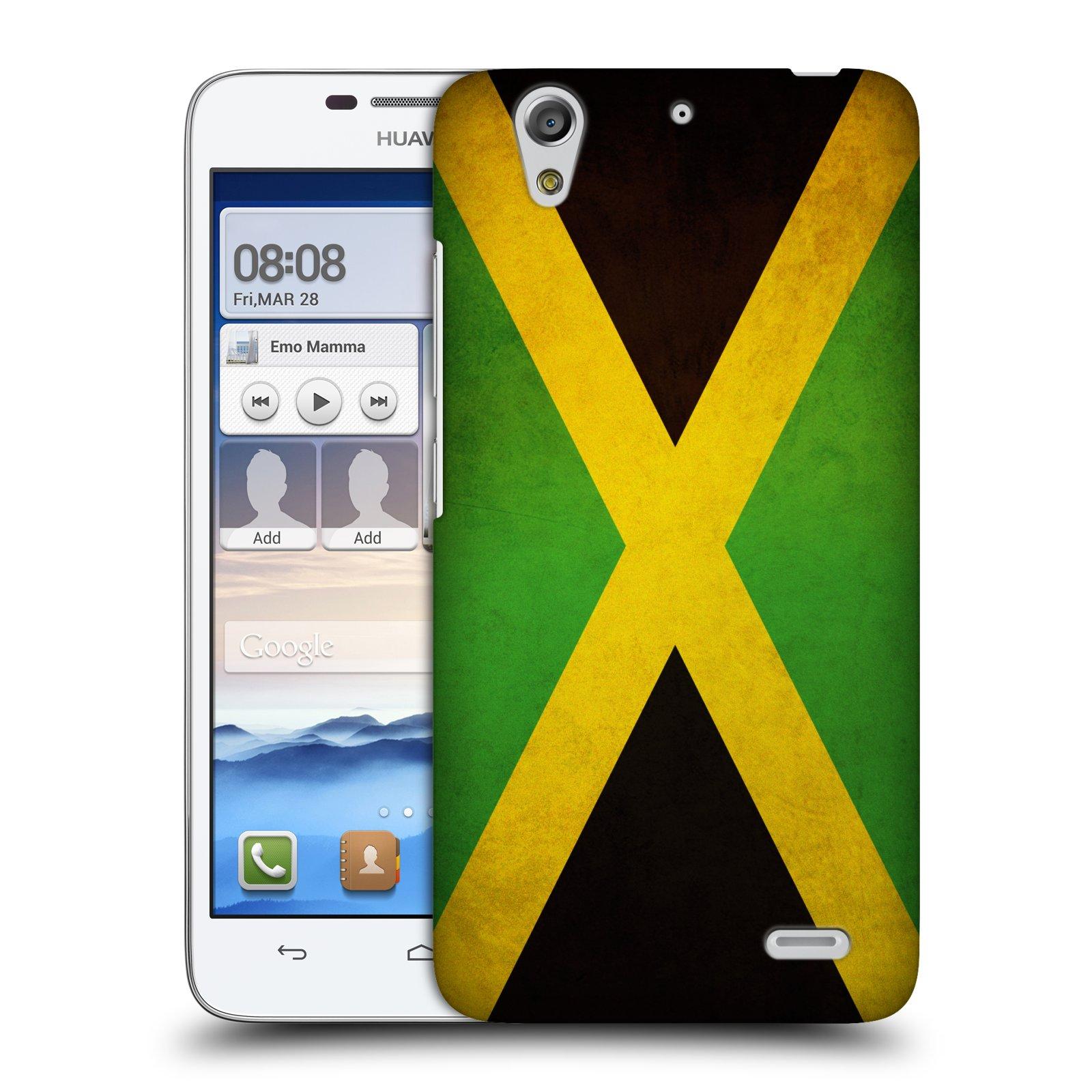 Plastové pouzdro na mobil Huawei Ascend G630 HEAD CASE VLAJKA JAMAJKA (Kryt či obal na mobilní telefon Huawei Ascend G630)