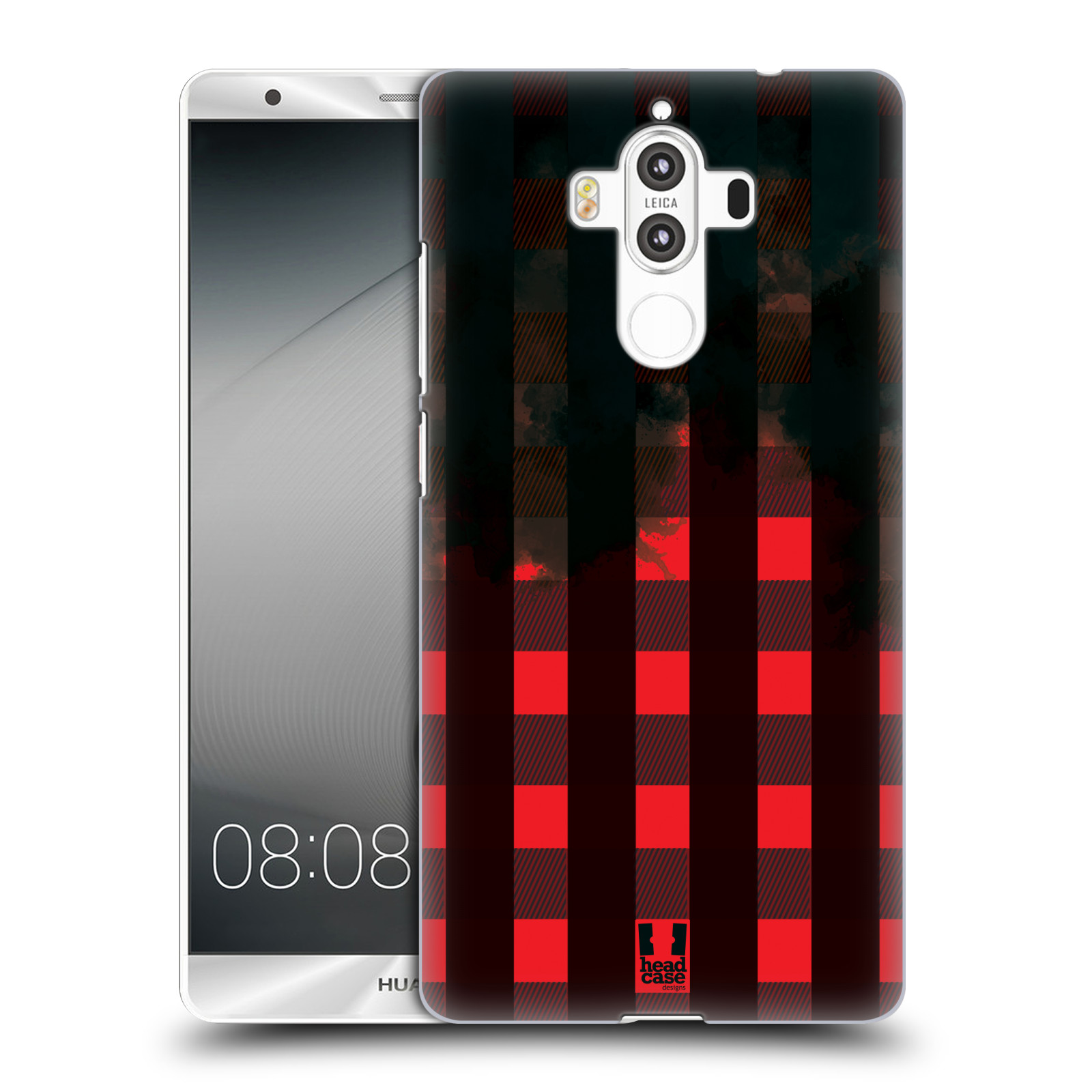 Plastové pouzdro na mobil Huawei Mate 9 - Head Case FLANEL RED BLACK (Plastový kryt či obal na mobilní telefon Huawei Mate 9 (Dual SIM))