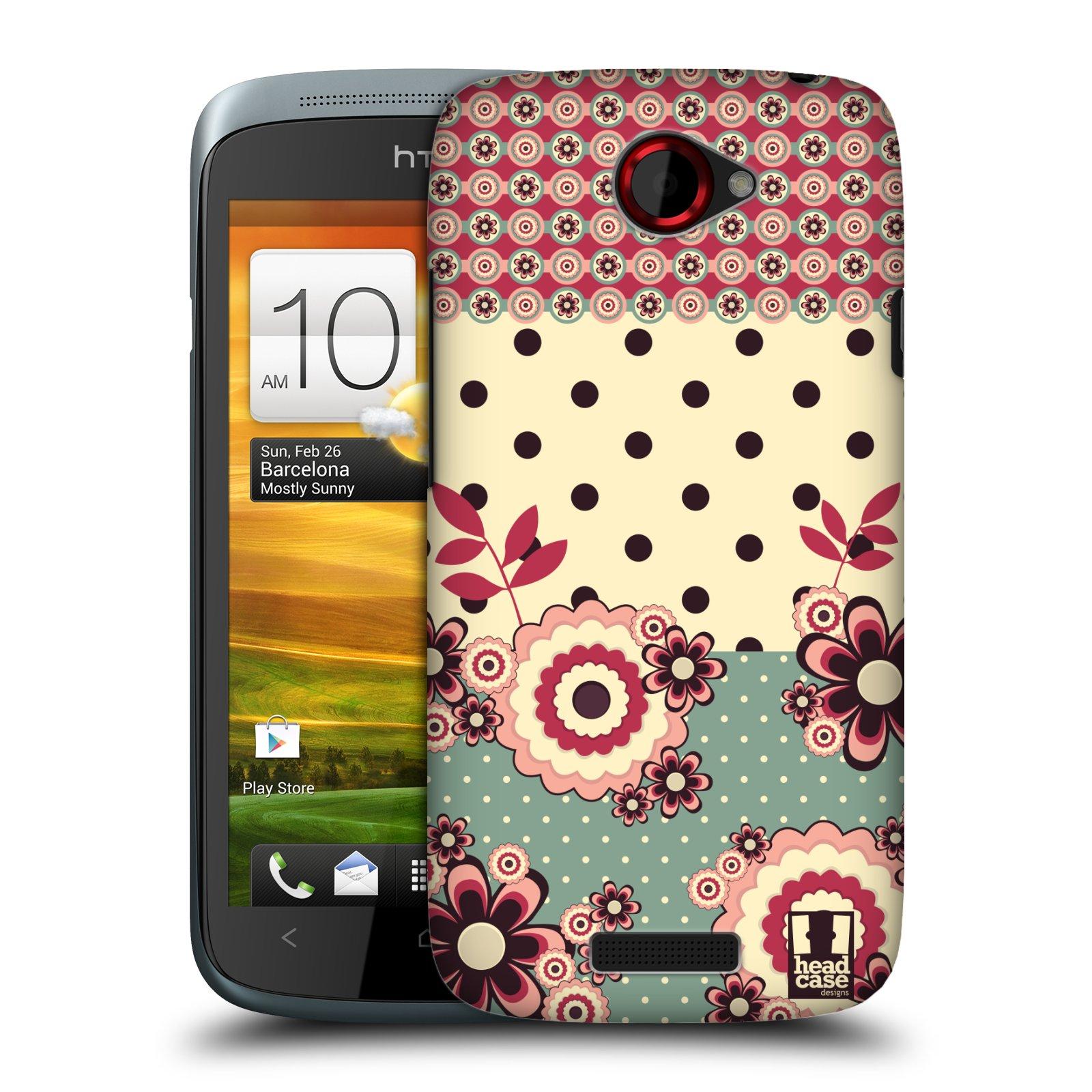 Plastové pouzdro na mobil HTC ONE S HEAD CASE KVÍTKA PINK CREAM