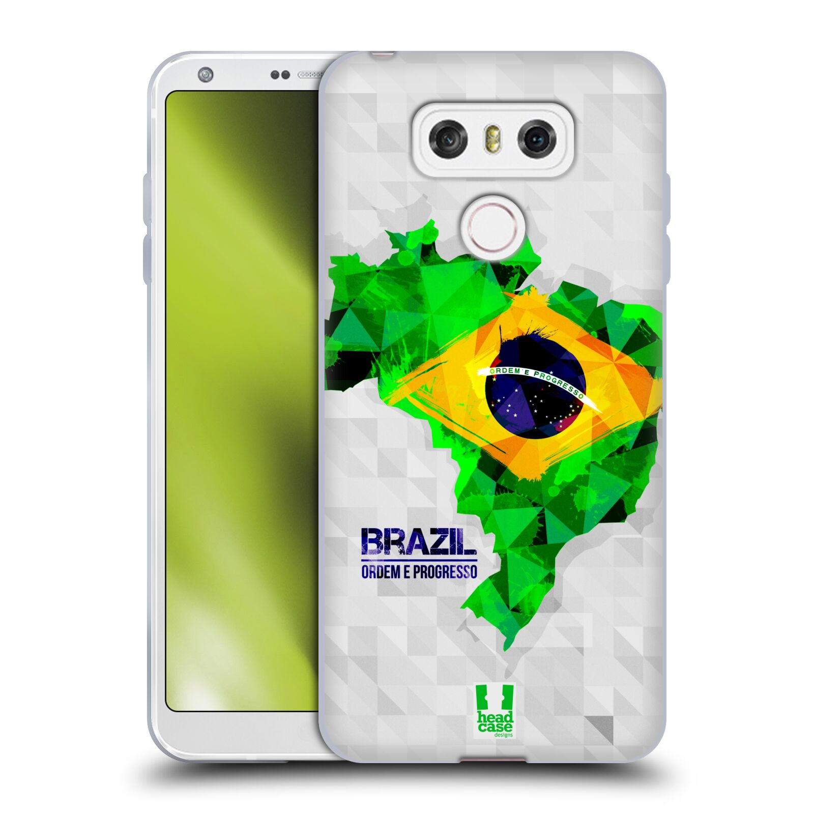 Silikonové pouzdro na mobil LG G6 - Head Case GEOMAPA BRAZÍLIE (Silikonový kryt či obal na mobilní telefon LG G6 H870 / LG G6 Dual SIM H870DS)