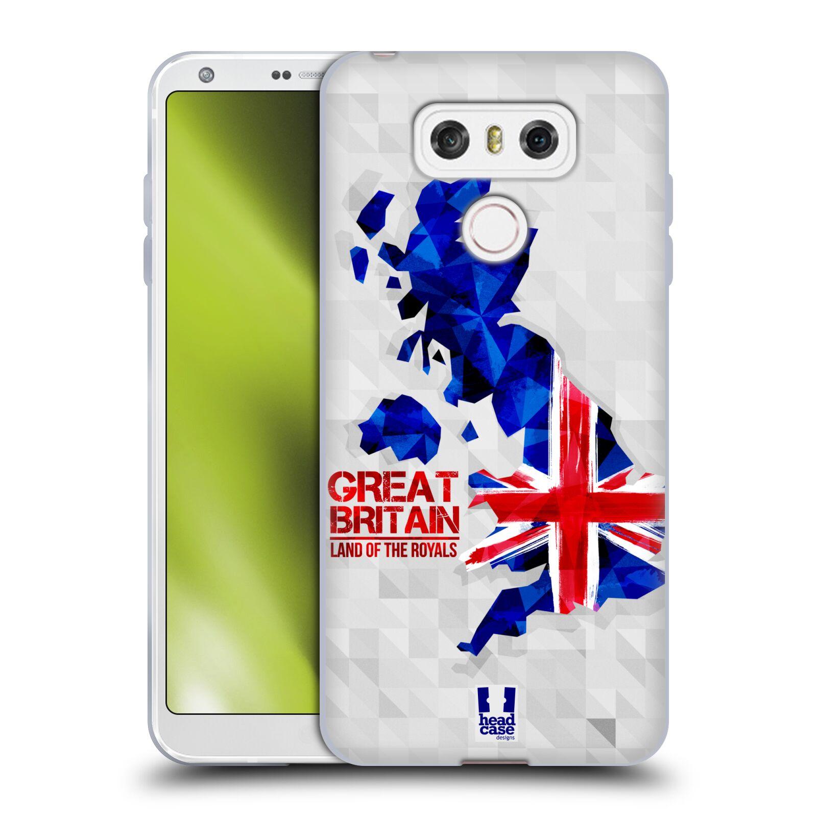 Silikonové pouzdro na mobil LG G6 - Head Case GEOMAPA VELKÁ BRTÁNIE (Silikonový kryt či obal na mobilní telefon LG G6 H870 / LG G6 Dual SIM H870DS)