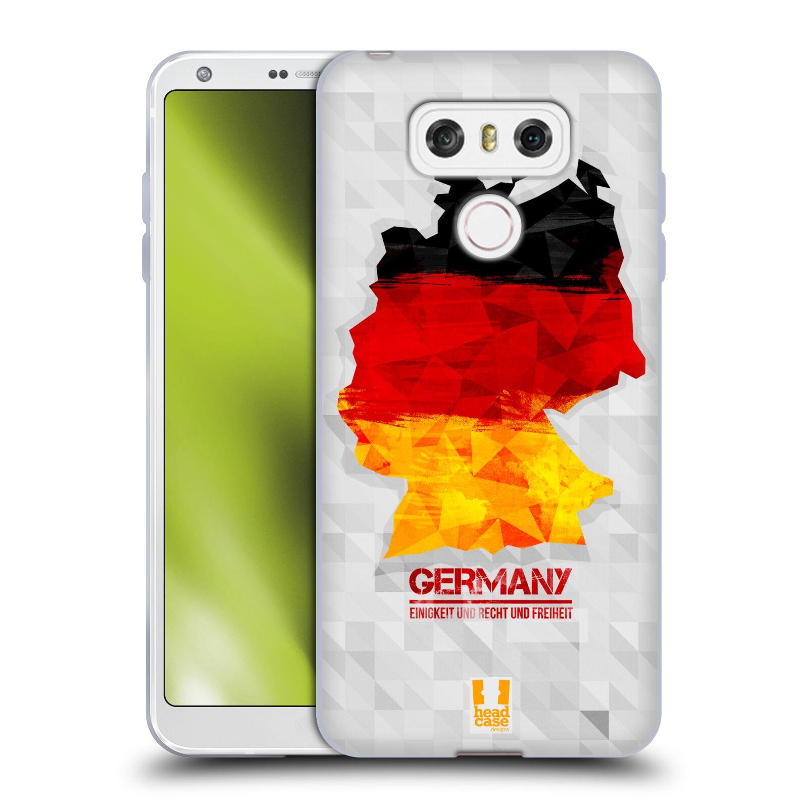 Silikonové pouzdro na mobil LG G6 - Head Case GEOMAPA NĚMECKO (Silikonový kryt či obal na mobilní telefon LG G6 H870 / LG G6 Dual SIM H870DS)