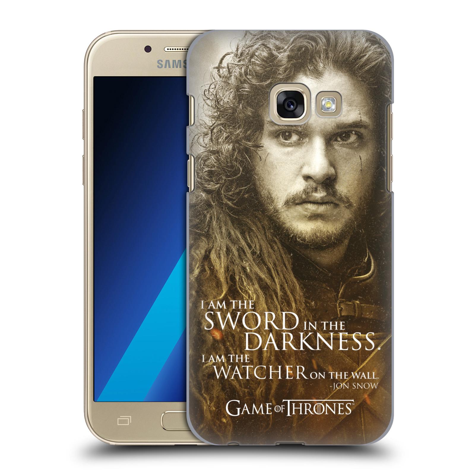 Plastové pouzdro na mobil Samsung Galaxy A3 (2017) HEAD CASE Hra o trůny - Jon Snow (Plastový kryt či obal na mobilní telefon s licencovaným motivem Hra o trůny - Game Of Thrones pro Samsung Galaxy A3 2017 SM-A320)