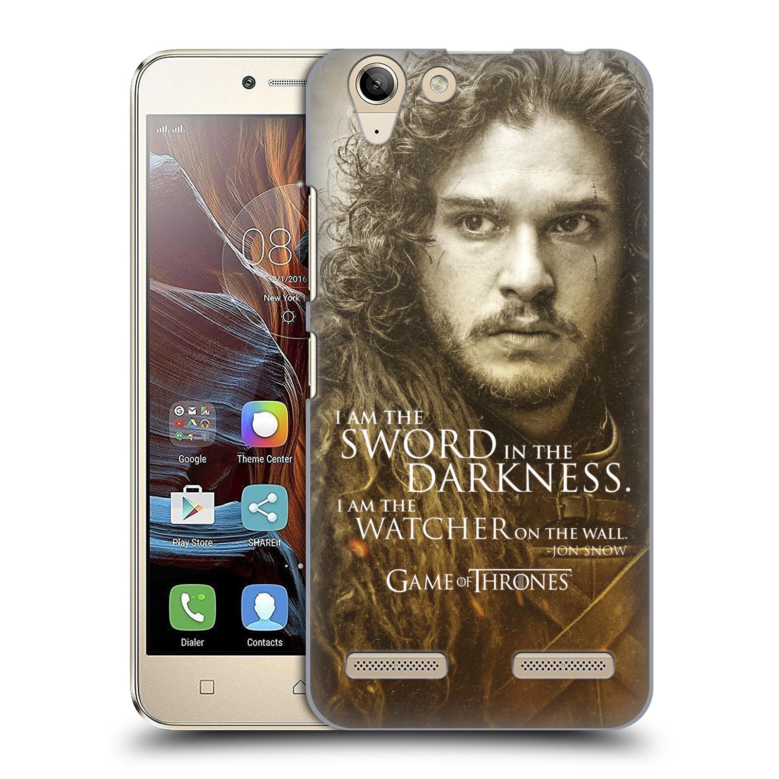 Plastové pouzdro na mobil Lenovo K5 / K5 Plus HEAD CASE Hra o trůny - Jon Snow (Plastový kryt či obal na mobilní telefon s licencovaným motivem Hra o trůny - Game Of Thrones pro Lenovo K5 / K5 Plus)