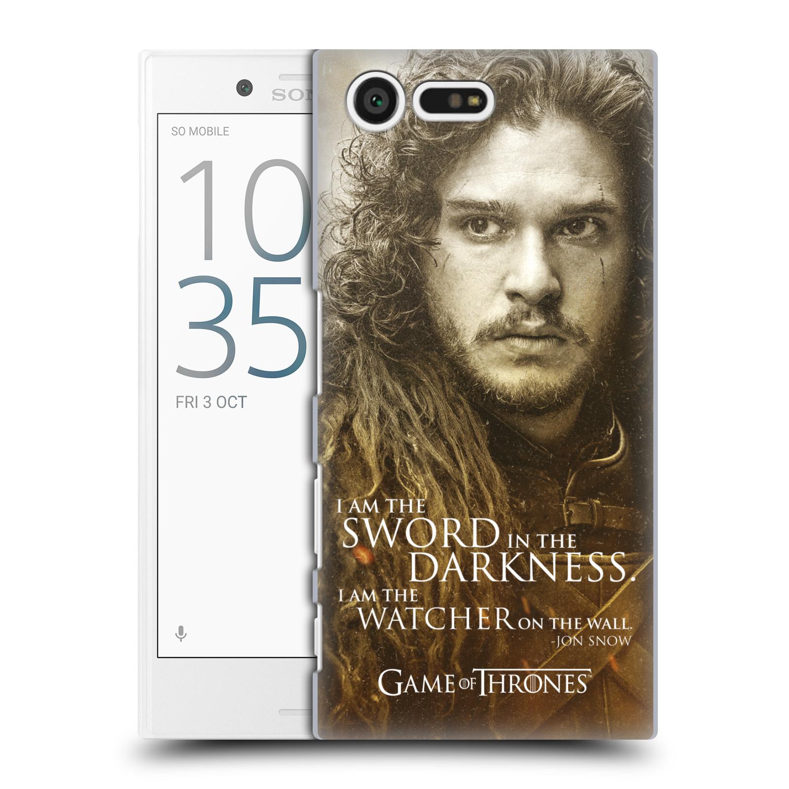 Plastové pouzdro na mobil Sony Xperia X Compact HEAD CASE Hra o trůny - Jon Snow (Plastový kryt či obal na mobilní telefon s licencovaným motivem Hra o trůny - Game Of Thrones pro Sony Xperia X Compact F5321)