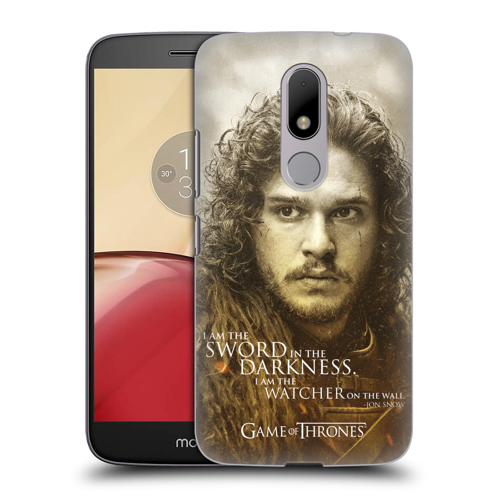 Plastové pouzdro na mobil Lenovo Moto M HEAD CASE Hra o trůny - Jon Snow (Plastový kryt či obal na mobilní telefon s licencovaným motivem Hra o trůny - Game Of Thrones pro Lenovo (Motorola) Moto M / Moto M Dual SIM)
