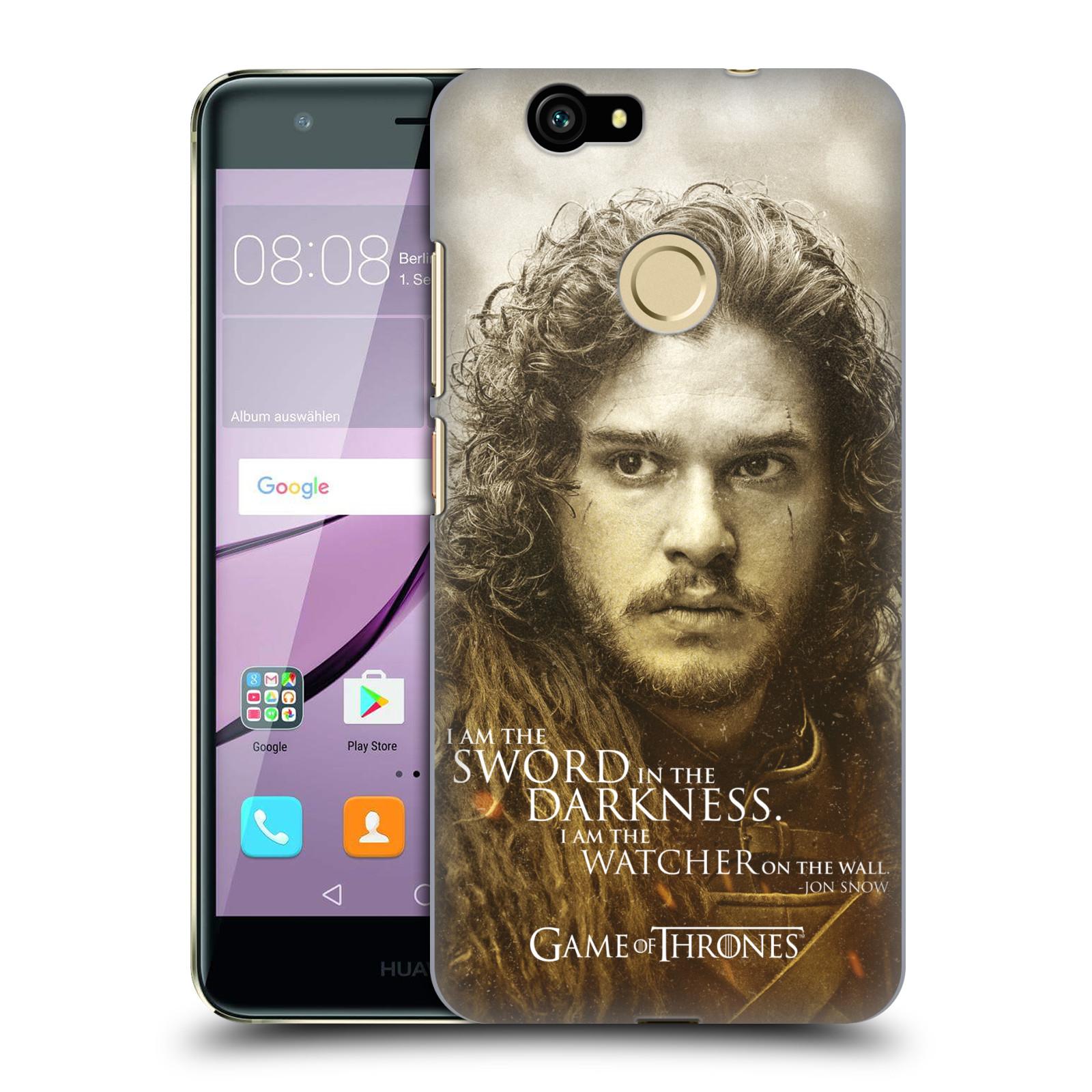 Plastové pouzdro na mobil Huawei Nova HEAD CASE Hra o trůny - Jon Snow (Plastový kryt či obal na mobilní telefon s licencovaným motivem Hra o trůny - Game Of Thrones pro Huawei Nova)