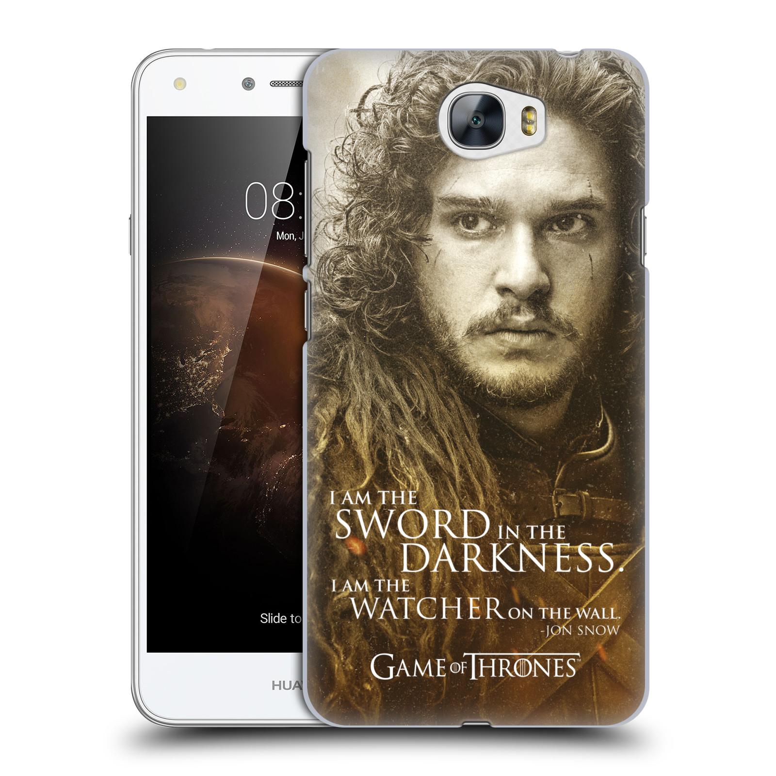 Plastové pouzdro na mobil Huawei Y5 II HEAD CASE Hra o trůny - Jon Snow (Plastový kryt či obal na mobilní telefon s licencovaným motivem Hra o trůny - Game Of Thrones pro Huawei Y5 II)