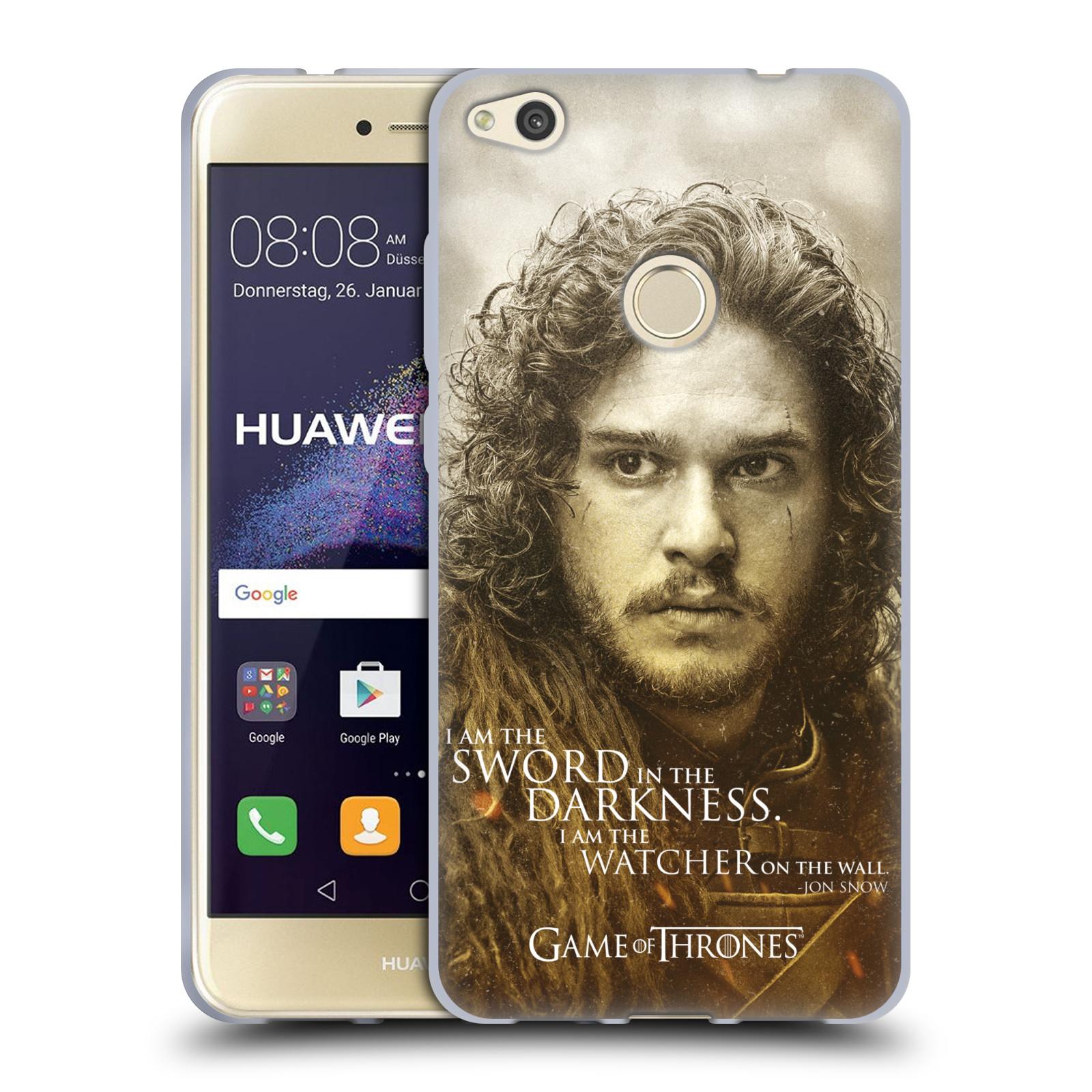Silikonové pouzdro na mobil Huawei P9 Lite (2017) HEAD CASE Hra o trůny - Jon Snow (Silikonový kryt či obal na mobilní telefon s licencovaným motivem Hra o trůny - Game Of Thrones pro Huawei P9 Lite 2017)