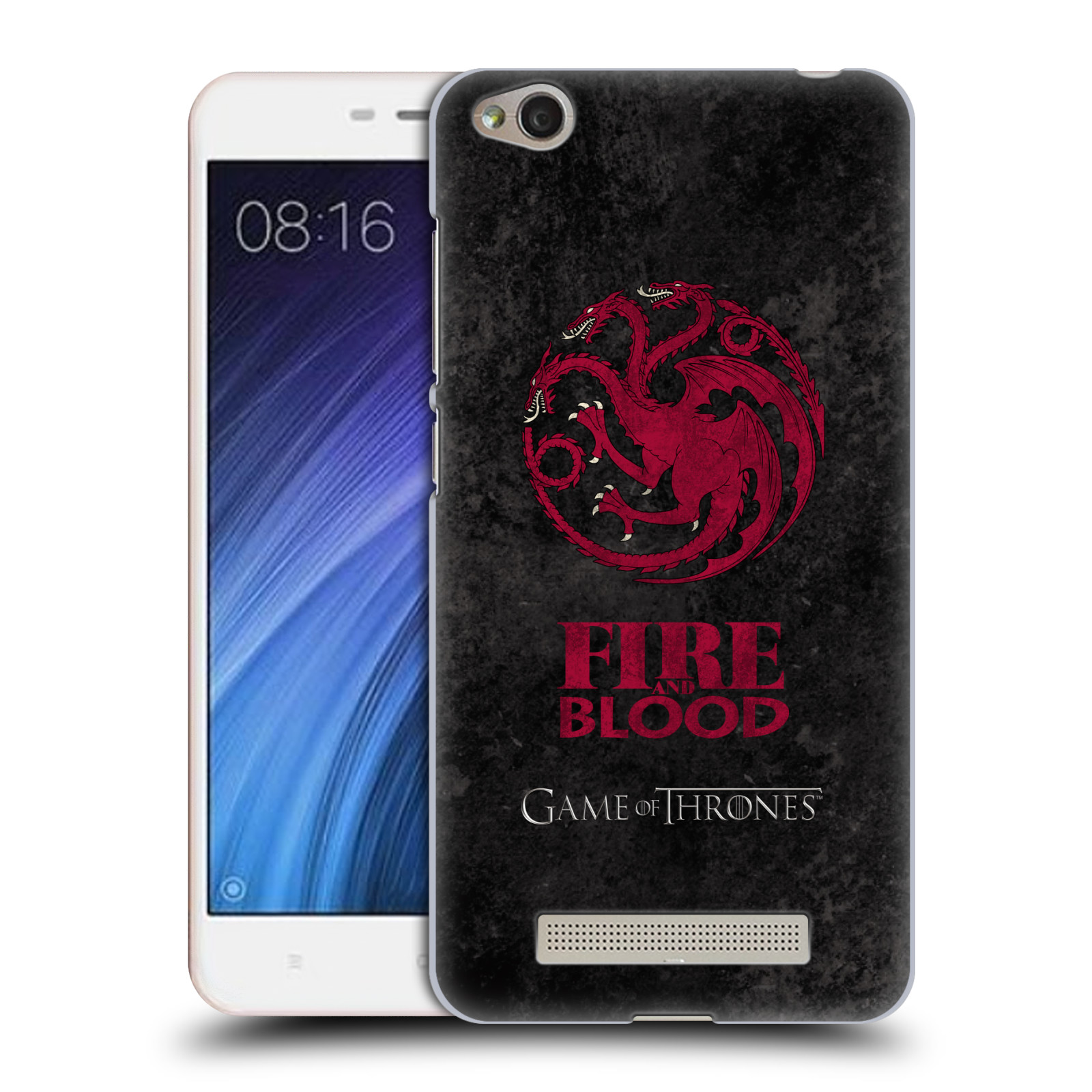 Plastové pouzdro na mobil Xiaomi Redmi 4A HEAD CASE Hra o trůny - Sigils Targaryen - Fire and Blood (Plastový kryt či obal na mobilní telefon s licencovaným motivem Hra o trůny - Game Of Thrones pro Xiaomi Redmi 4A)