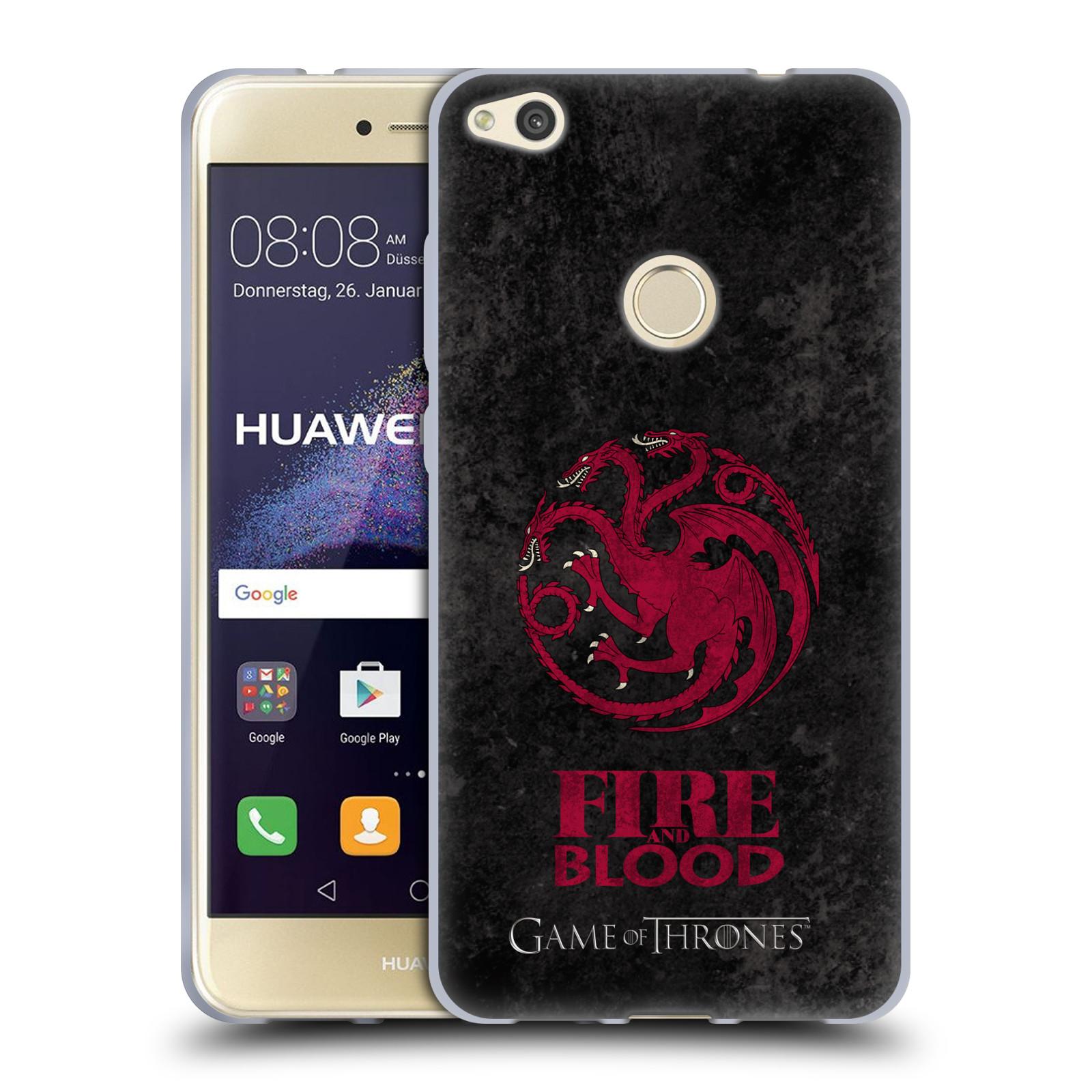 Silikonové pouzdro na mobil Huawei P9 Lite (2017) HEAD CASE Hra o trůny - Sigils Targaryen - Fire and Blood (Silikonový kryt či obal na mobilní telefon s licencovaným motivem Hra o trůny - Game Of Thrones pro Huawei P9 Lite 2017)