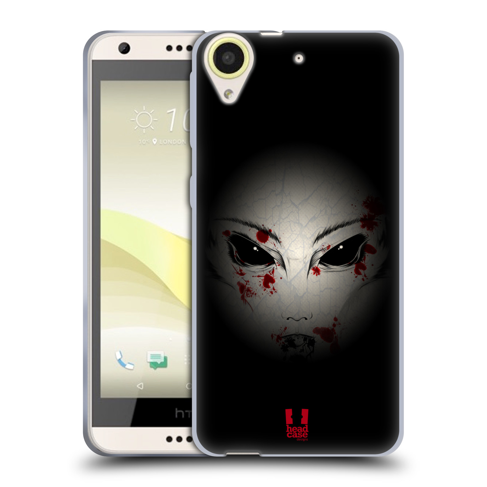 Silikonové pouzdro na mobil HTC Desire 650 HEAD CASE Macabre (Silikonový kryt či obal na mobilní telefon HTC Desire 650)