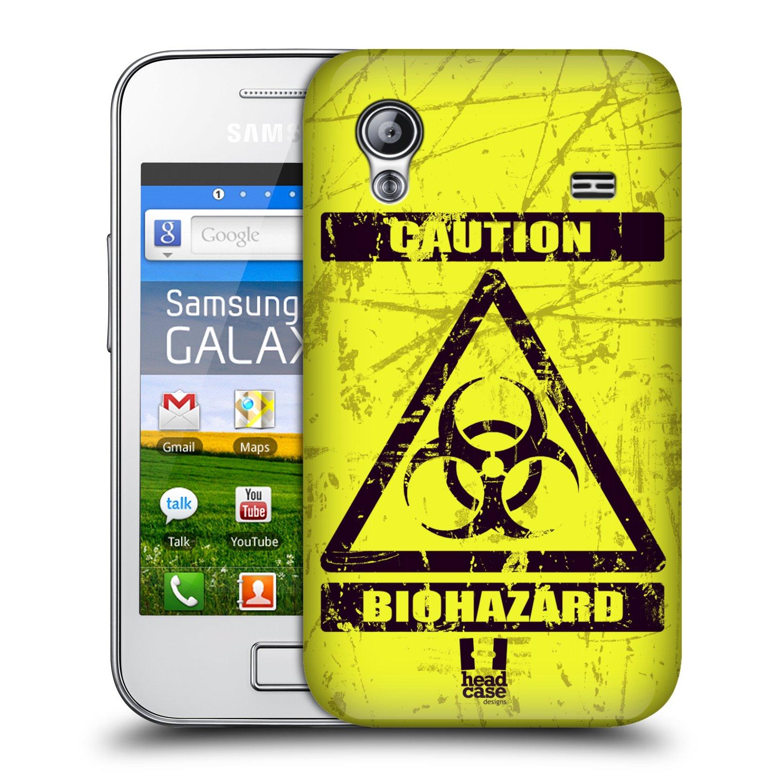 Plastové pouzdro na mobil Samsung Galaxy Ace HEAD CASE BIOHAZARD (Kryt či obal na mobilní telefon Samsung Galaxy Ace GT-S5830 / GT-S5830i / GT-S5839i)