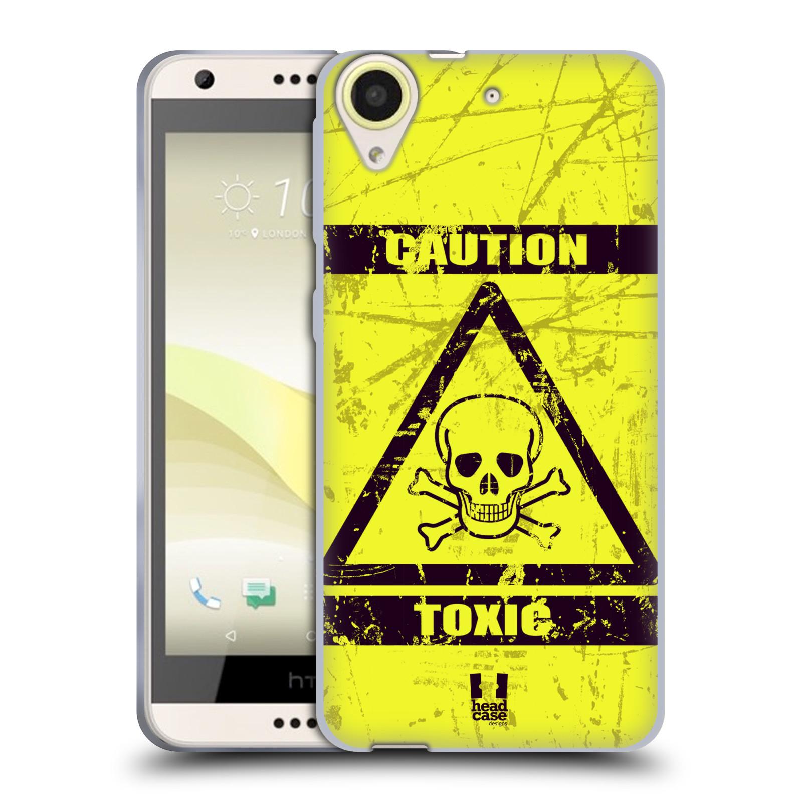 Silikonové pouzdro na mobil HTC Desire 650 HEAD CASE TOXIC (Silikonový kryt či obal na mobilní telefon HTC Desire 650)