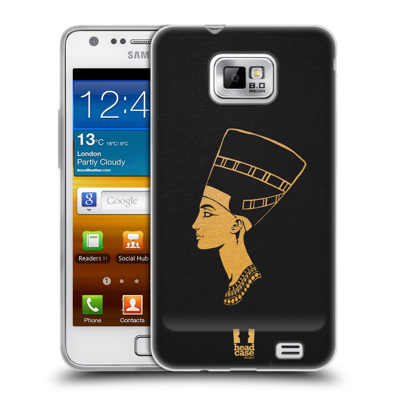 Silikonové pouzdro na mobil Samsung Galaxy S II HEAD CASE EGYPT NEFERTITI (Silikonový kryt či obal na mobilní telefon Samsung Galaxy S II GT-i9100)