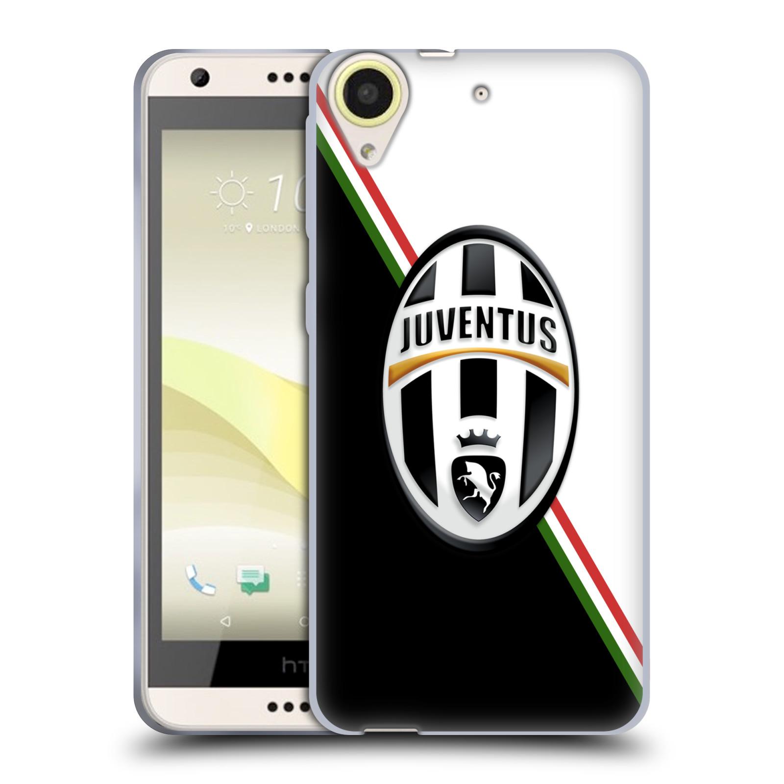 Silikonové pouzdro na mobil HTC Desire 650 HEAD CASE Juventus FC - Black and White (Silikonový kryt či obal na mobilní telefon Juventus FC Official pro HTC Desire 650)