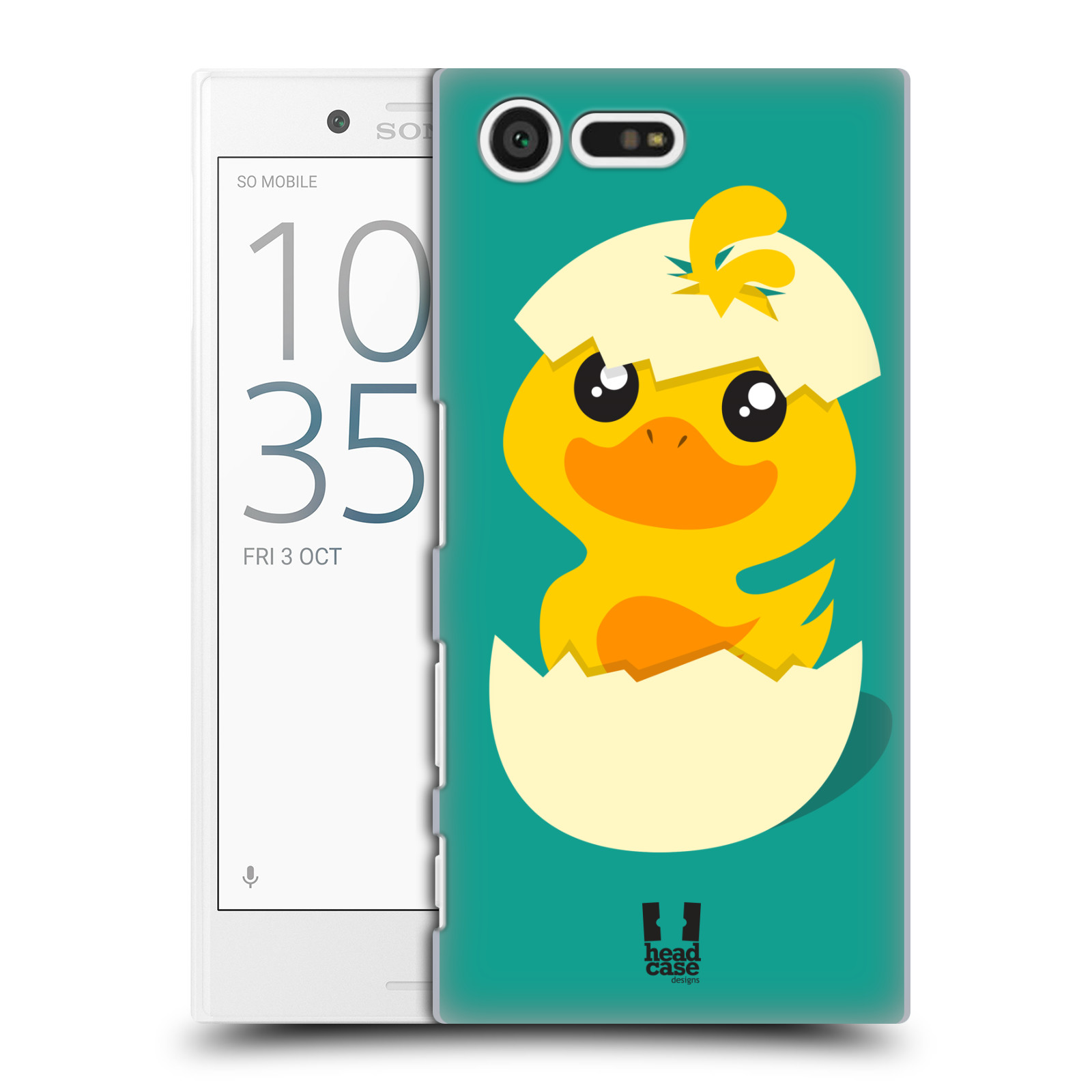 Plastové pouzdro na mobil Sony Xperia X Compact HEAD CASE KACHNIČKA Z VAJÍČKA (Plastový kryt či obal na mobilní telefon Sony Xperia X Compact F5321)