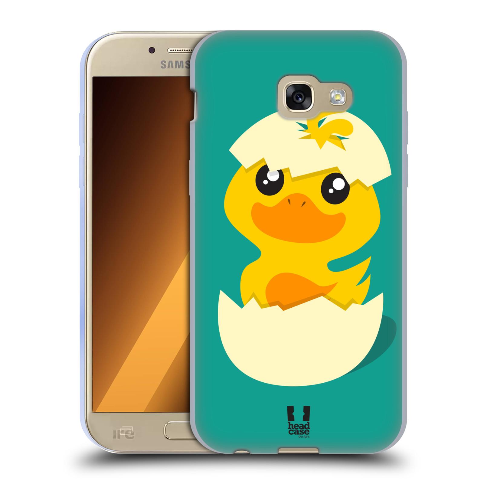Silikonové pouzdro na mobil Samsung Galaxy A5 (2017) HEAD CASE KACHNIČKA Z VAJÍČKA (Silikonový kryt či obal na mobilní telefon Samsung Galaxy A5 2017 SM-A520)