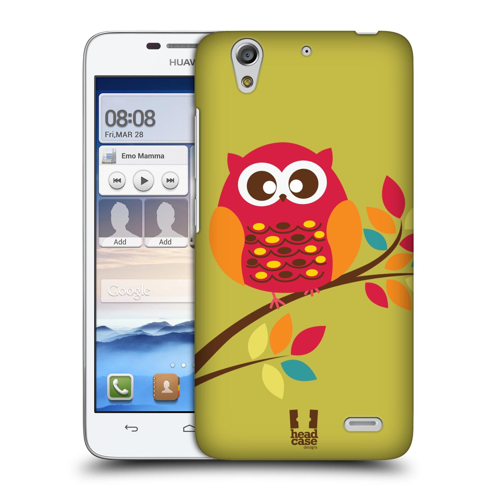 Plastové pouzdro na mobil Huawei Ascend G630 HEAD CASE SOVIČKA NA VĚTVI (Kryt či obal na mobilní telefon Huawei Ascend G630)